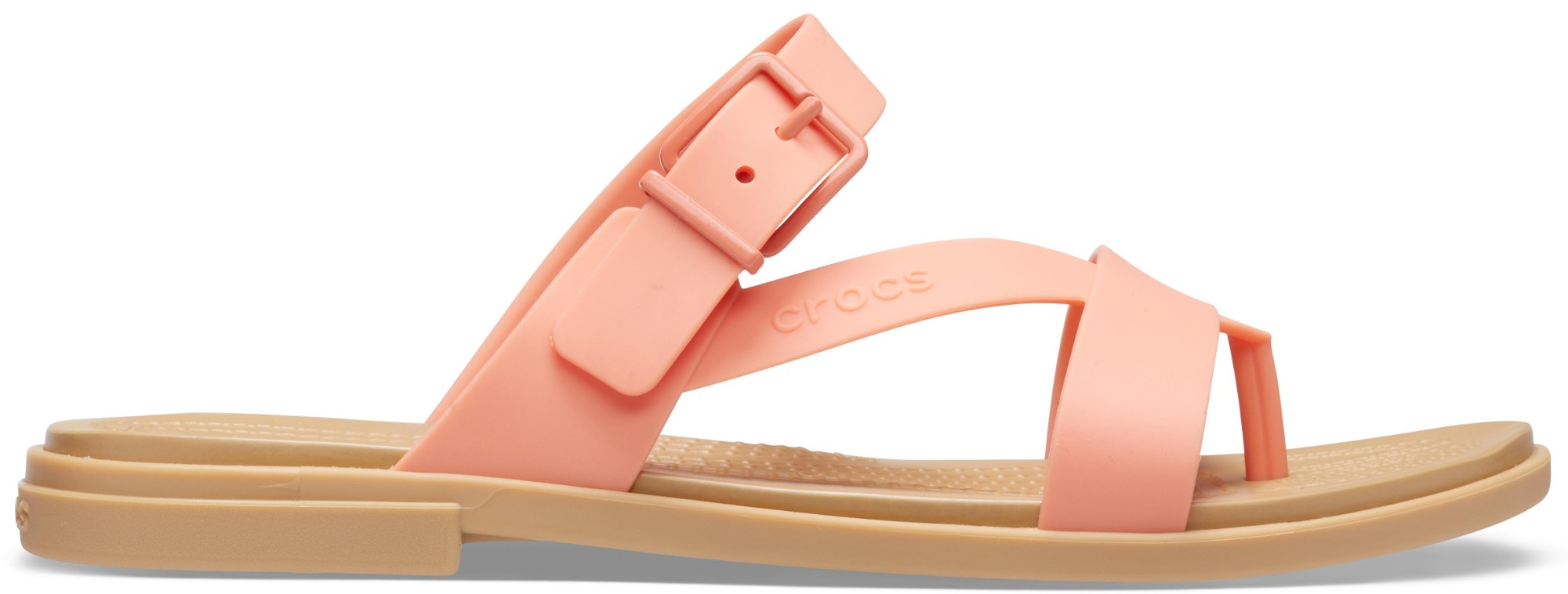 Crocs™ Tulum Toe Post Sandal Womens Grapefruit/Tan 36,5