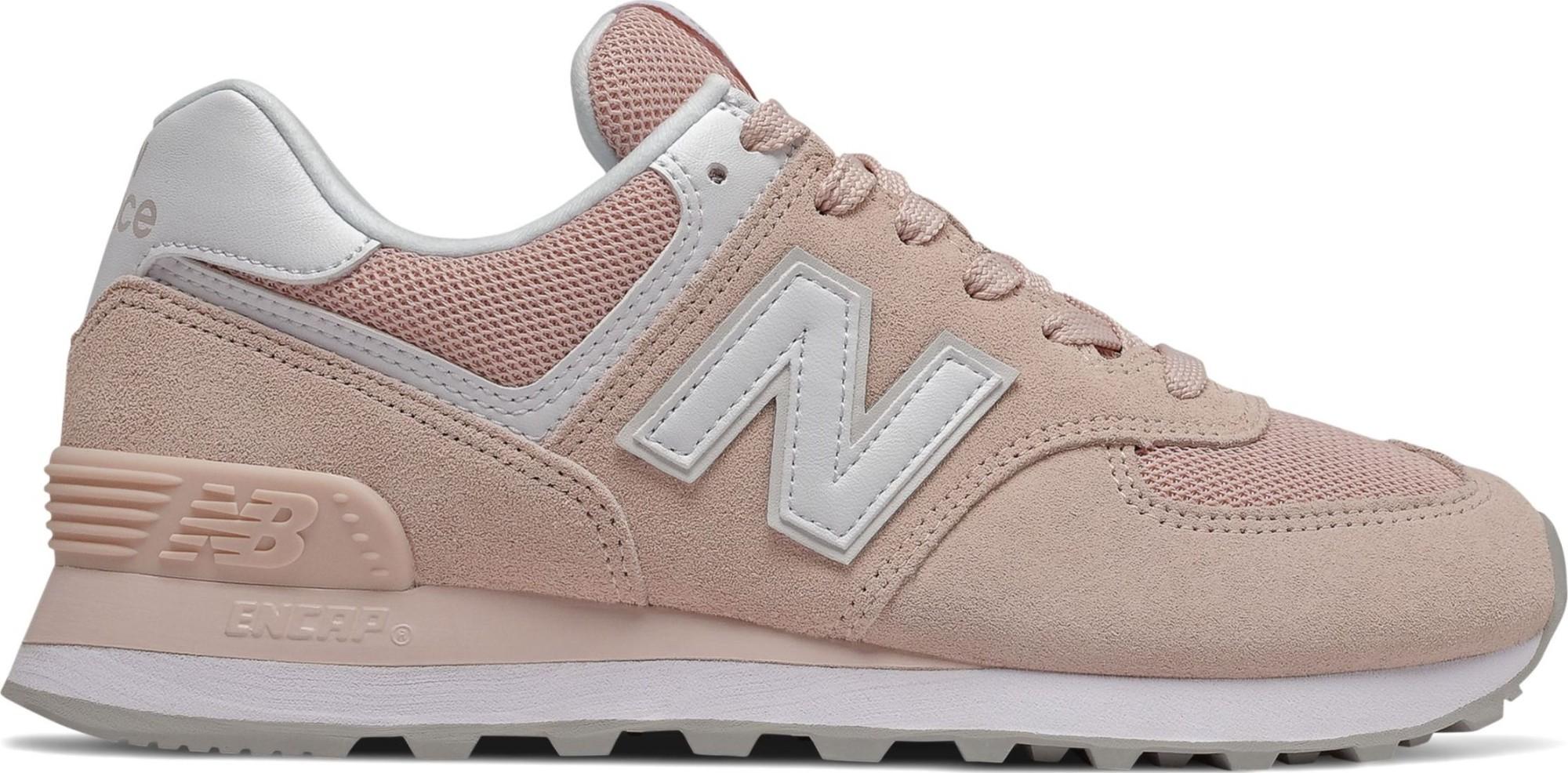 New Balance WL574 Nubuck Pink/White 37,5