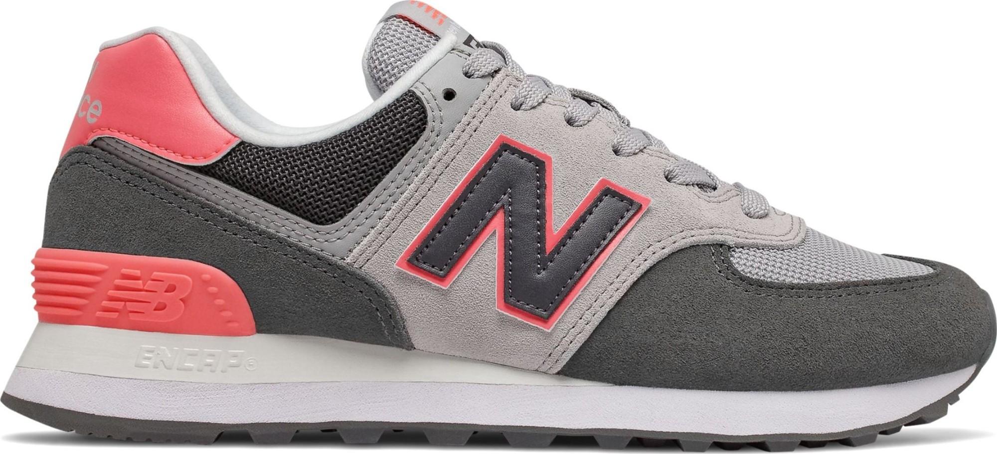 New Balance WL574 Nubuck Black/Pink 37
