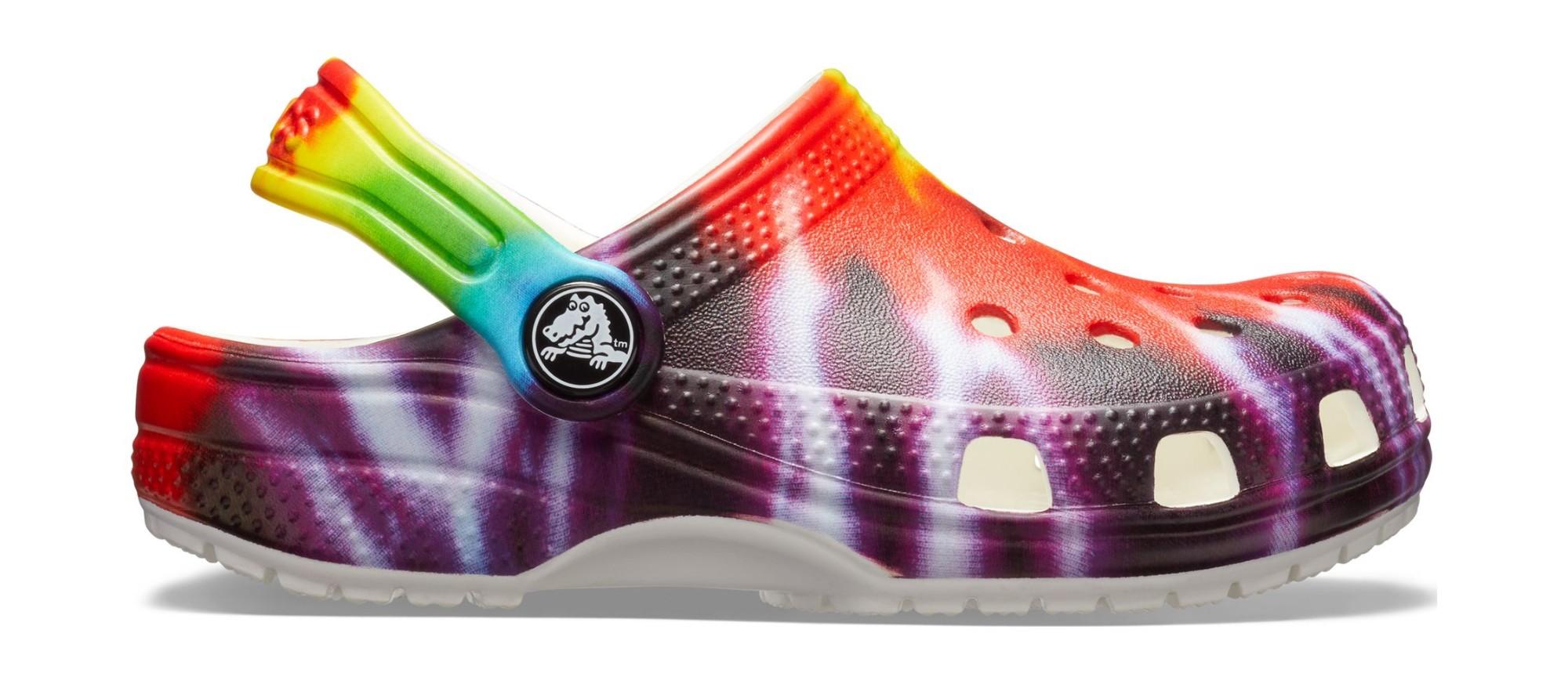 Crocs™ Classic Tie Dye Graphic Clog Kid's Multi 25