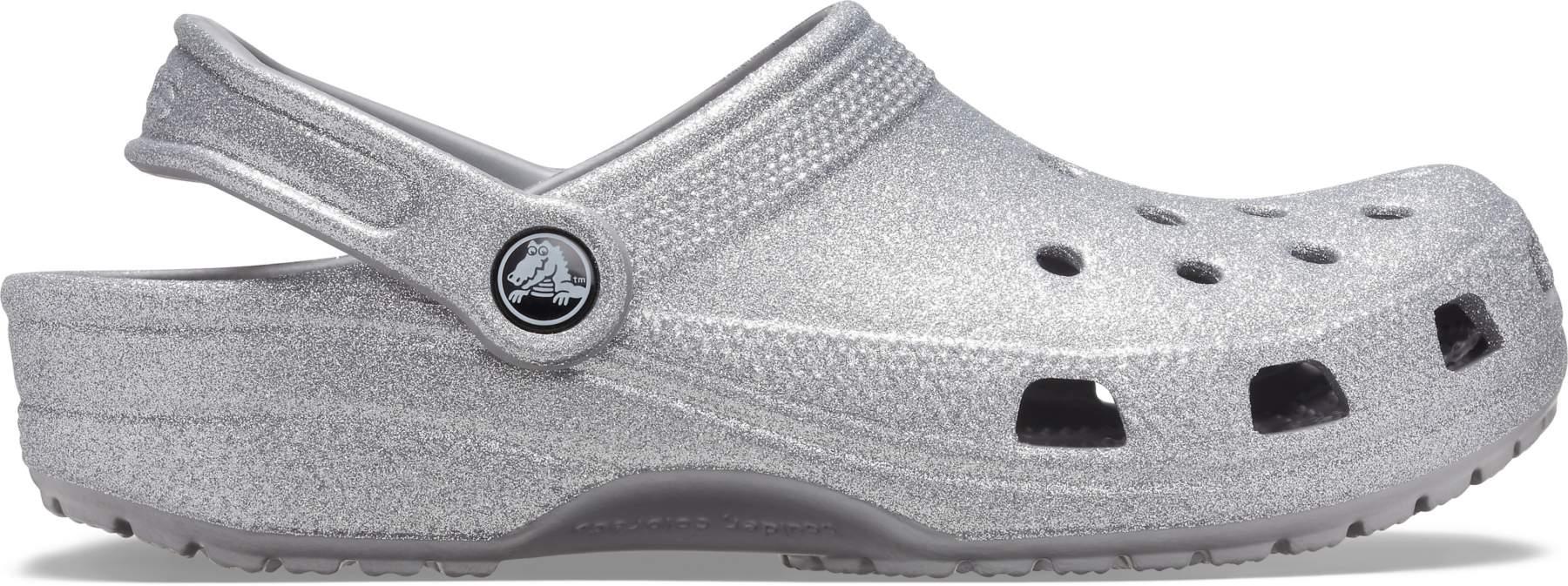 Crocs™ Classic Glitter Clog Silver 36,5