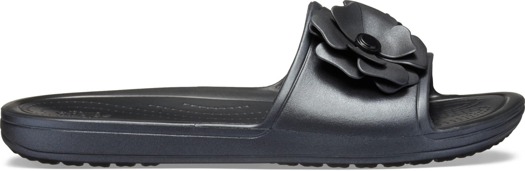 Crocs™ Sloane Vivid Blooms Slide Women's Black/Black 38,5