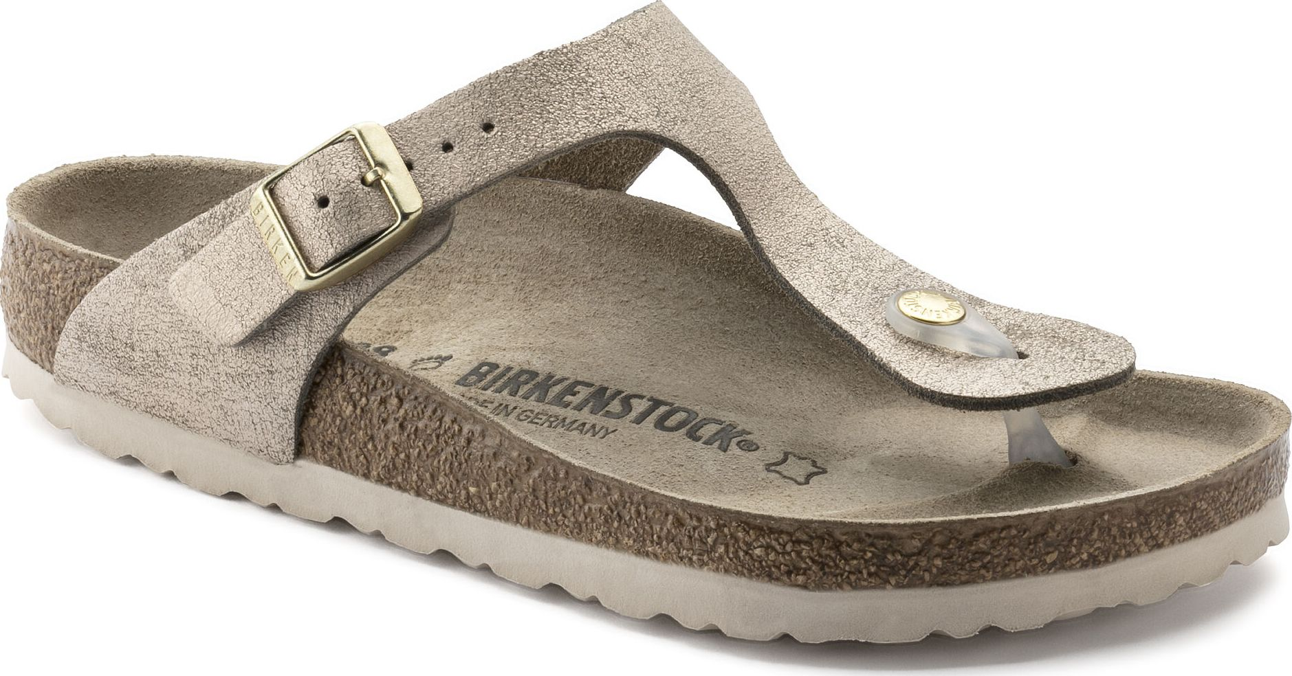 Birkenstock Gizeh Washed Metallic Leather Rose Gold 37