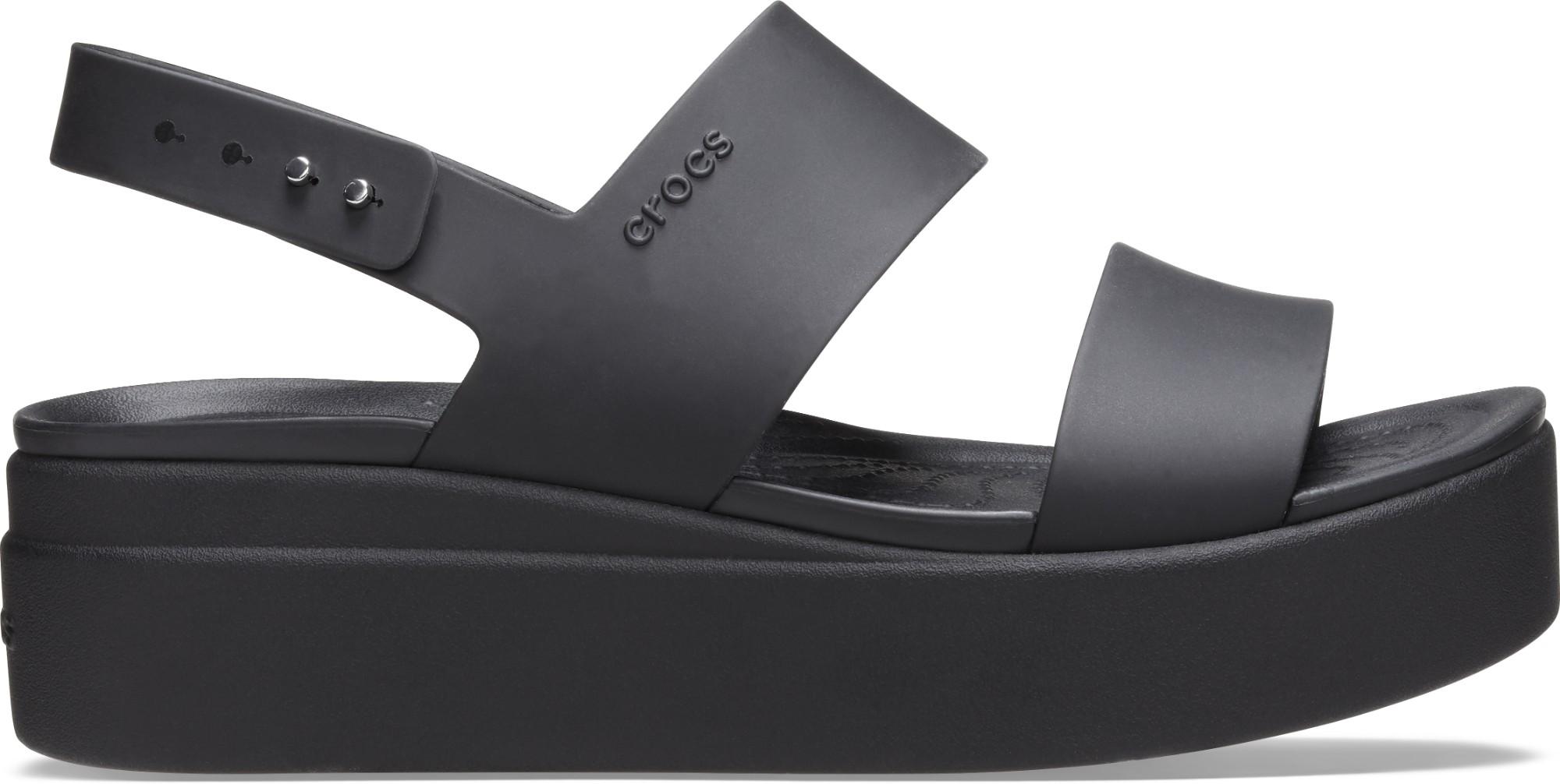 Crocs™ Brooklyn Low Wedge Womens Black/Black 41