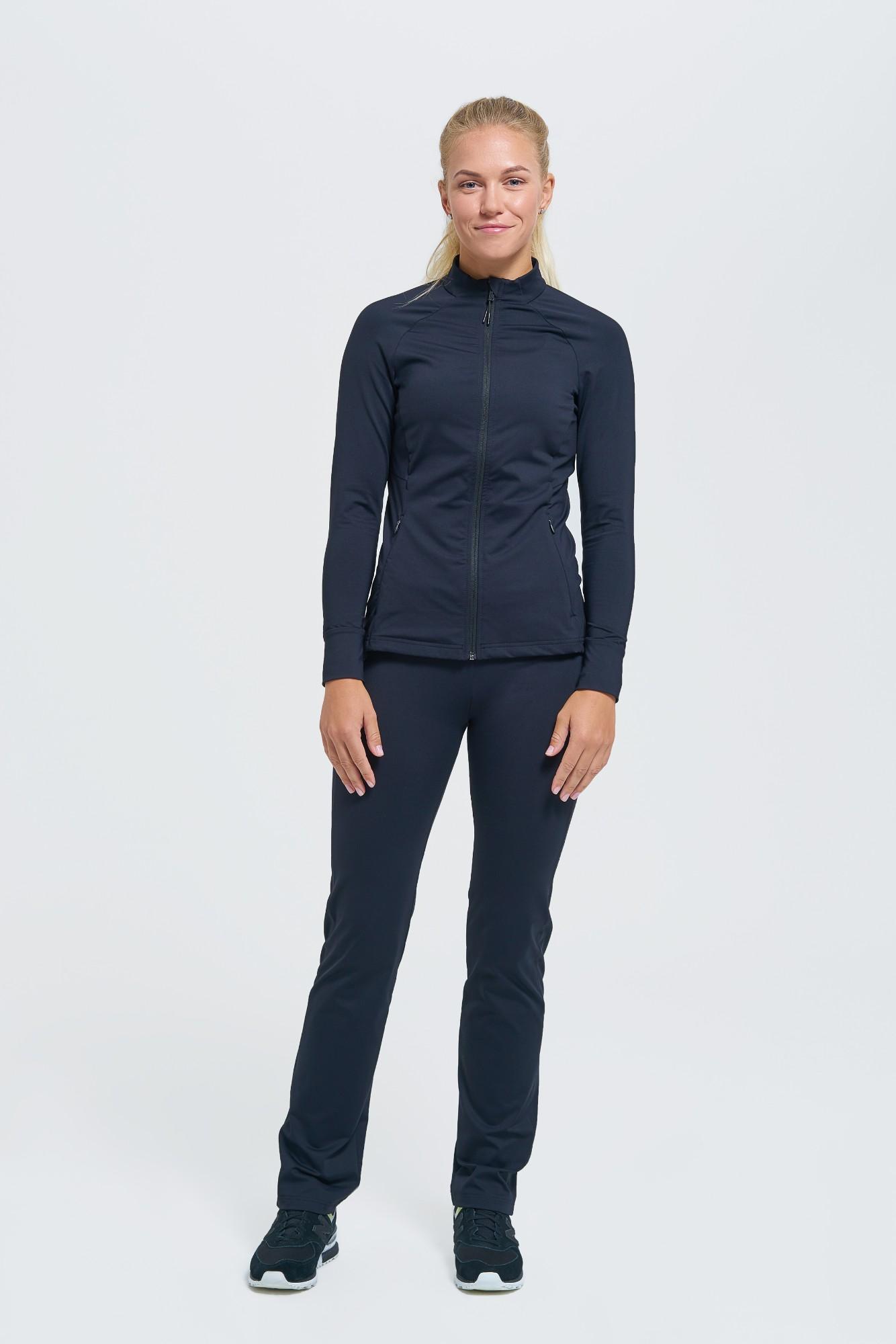 AUDIMAS Tiesaus silueto funkcionalios kelnės Black 160/S