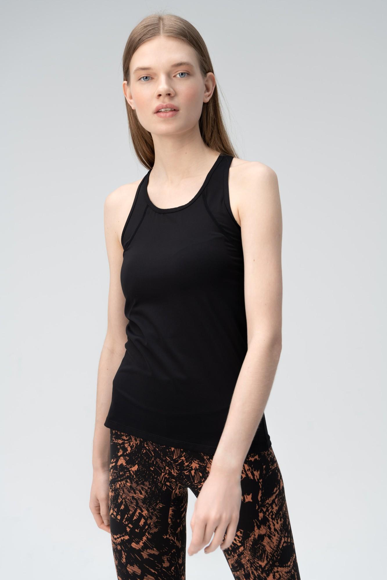 AUDIMAS Apranga Funkcionalūs berankoviai marškinėliai Black S