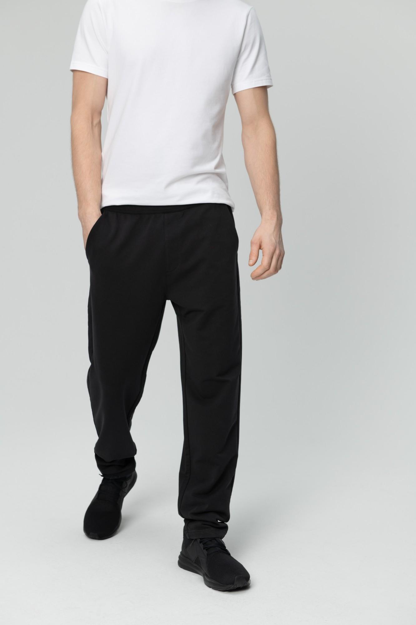 AUDIMAS Tamprios medvilninės kelnės 1821-463 Black 176/XL