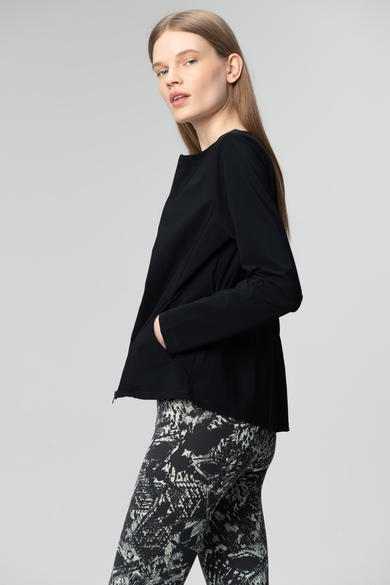 AUDIMAS Lengvas džemperis SENSITIVE 2011-097 Black XS