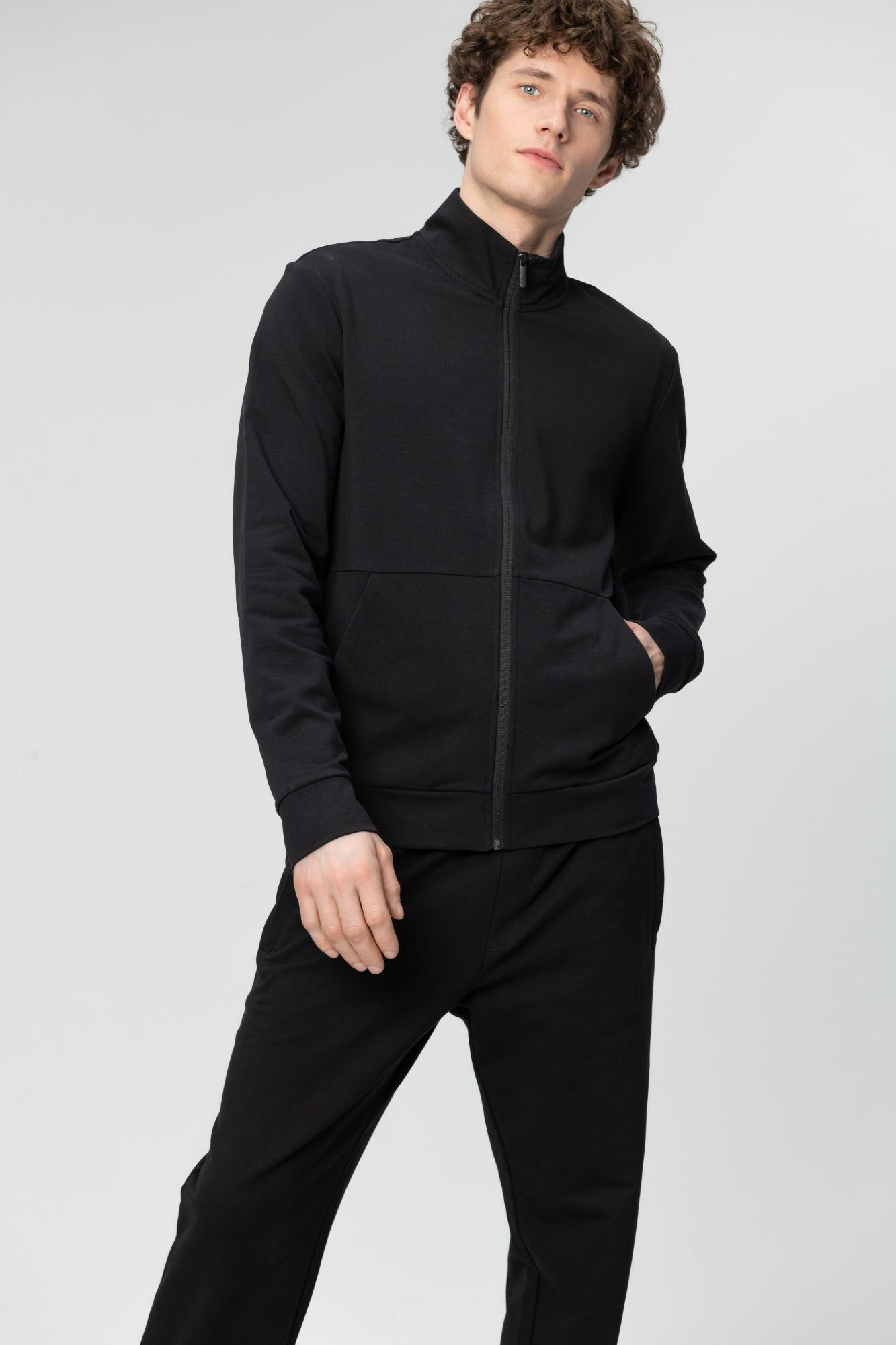 AUDIMAS Atsegamas medvilninis džemperis 2011-462 Black M