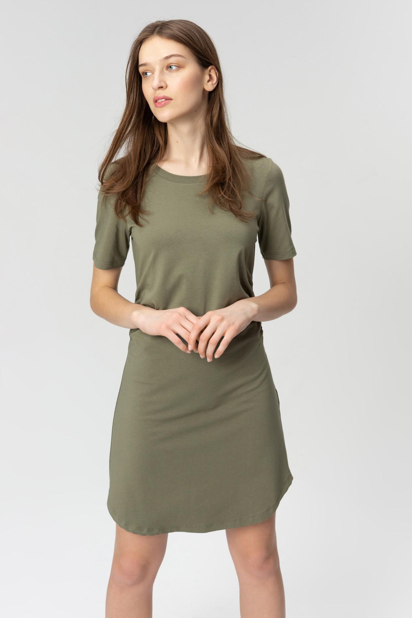 AUDIMAS Švelnaus modalo suknelė 2011-033 Deep Lichen Green S