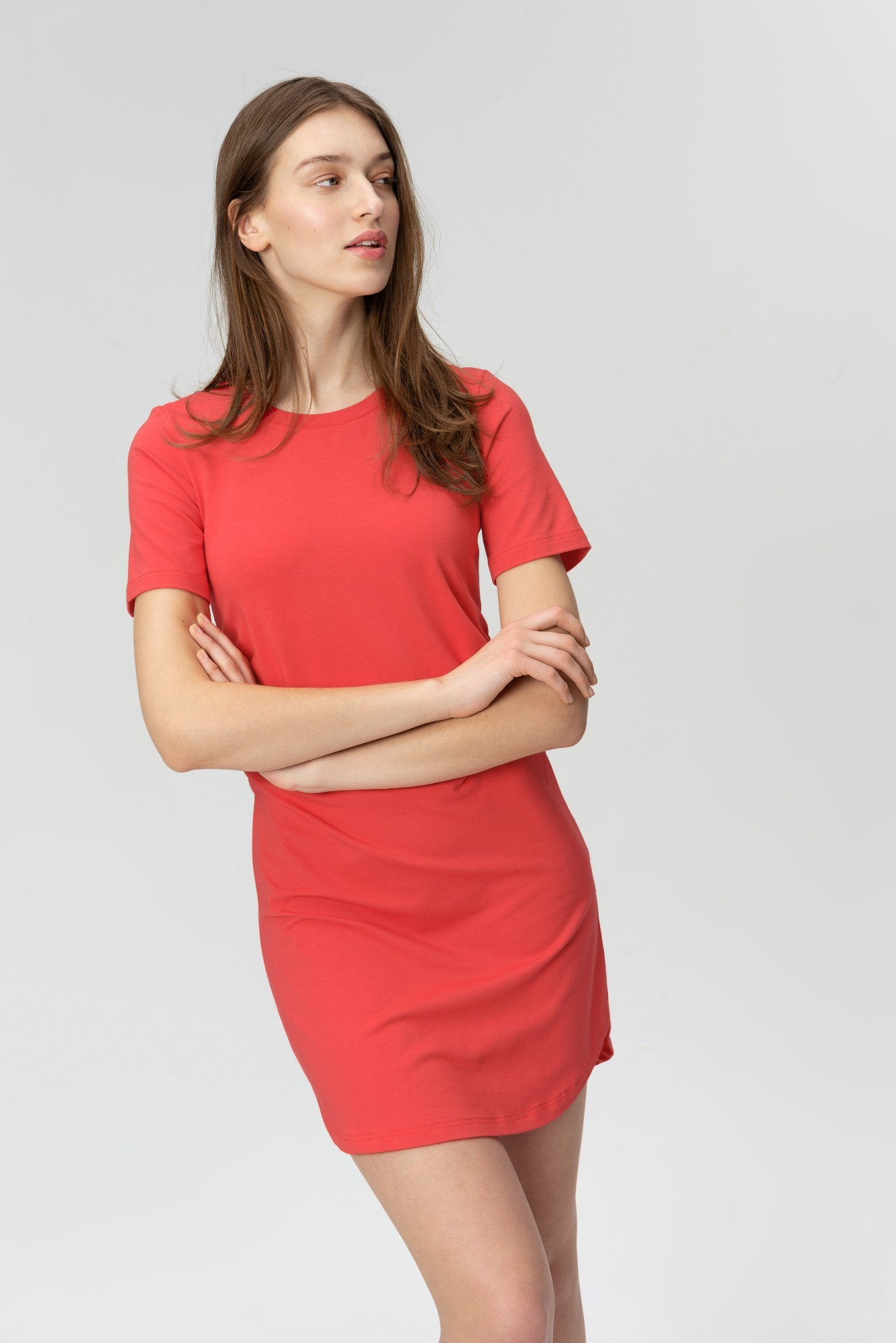 AUDIMAS Švelnaus modalo suknelė 2011-033 Poppy Red M