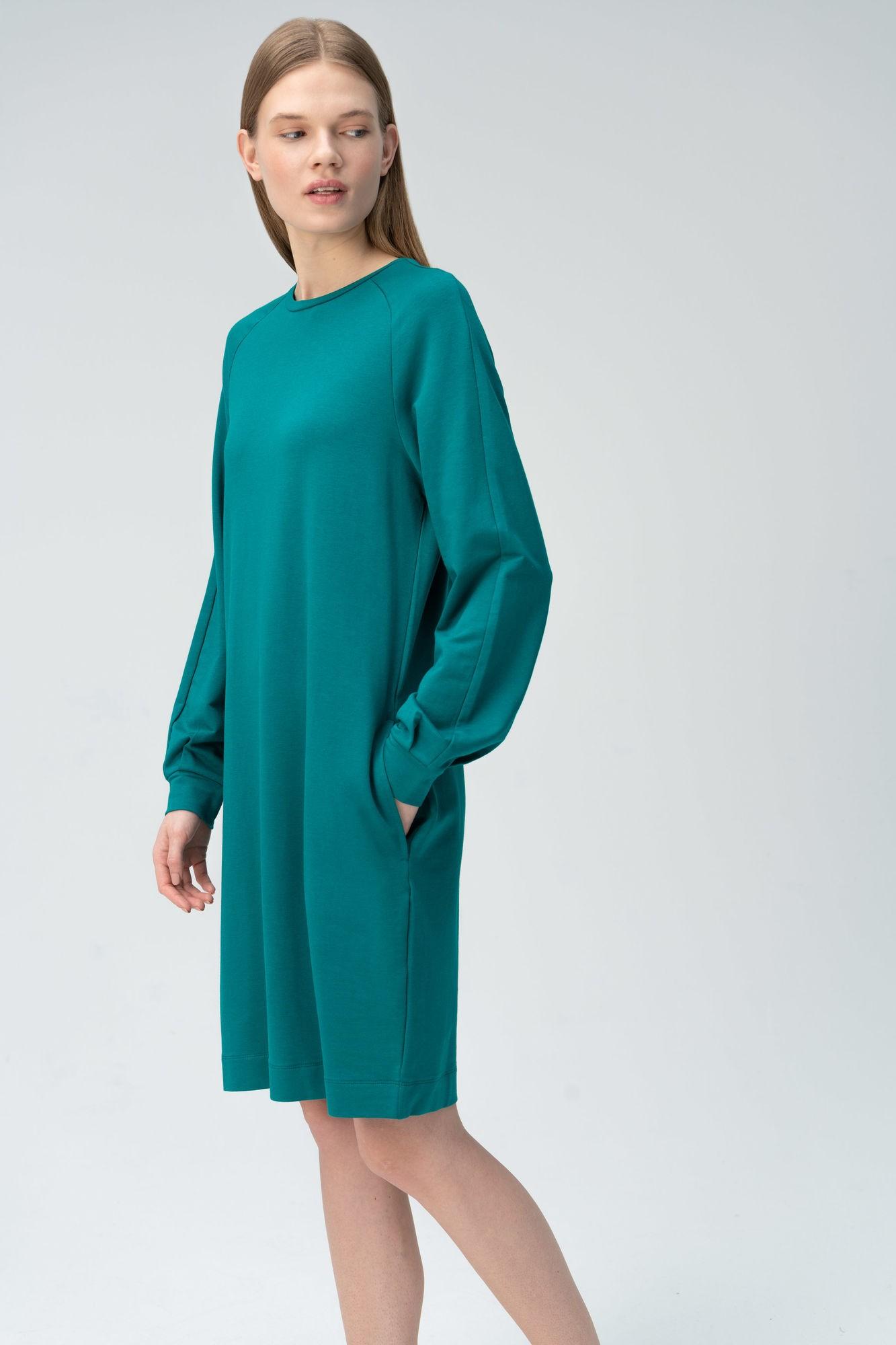 AUDIMAS Švelnaus modalo suknelė ilg.rank. 2011-070 Everglade XS
