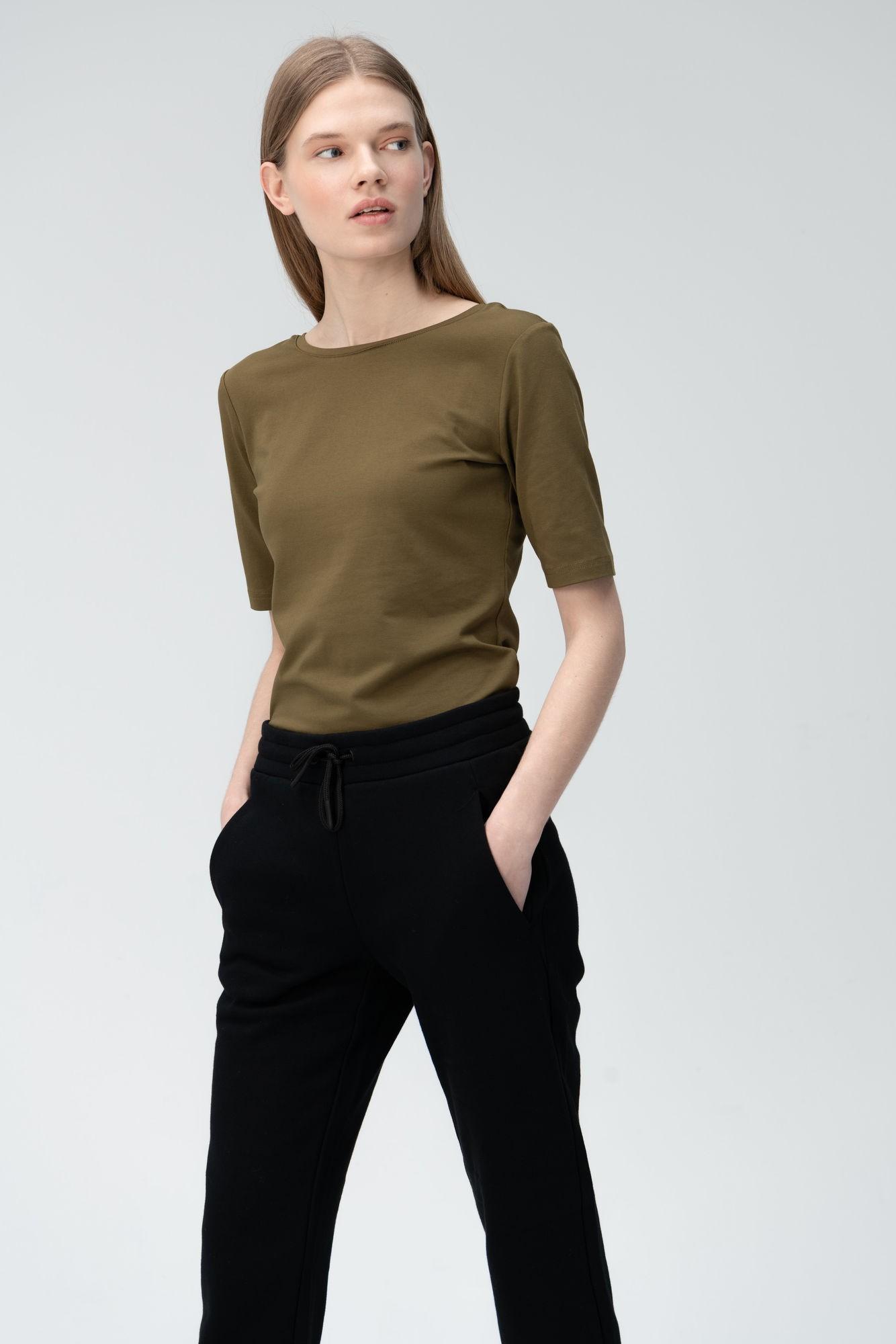 AUDIMAS Prigludę švelnaus modalo marškin. 2011-075 Dark Olive S