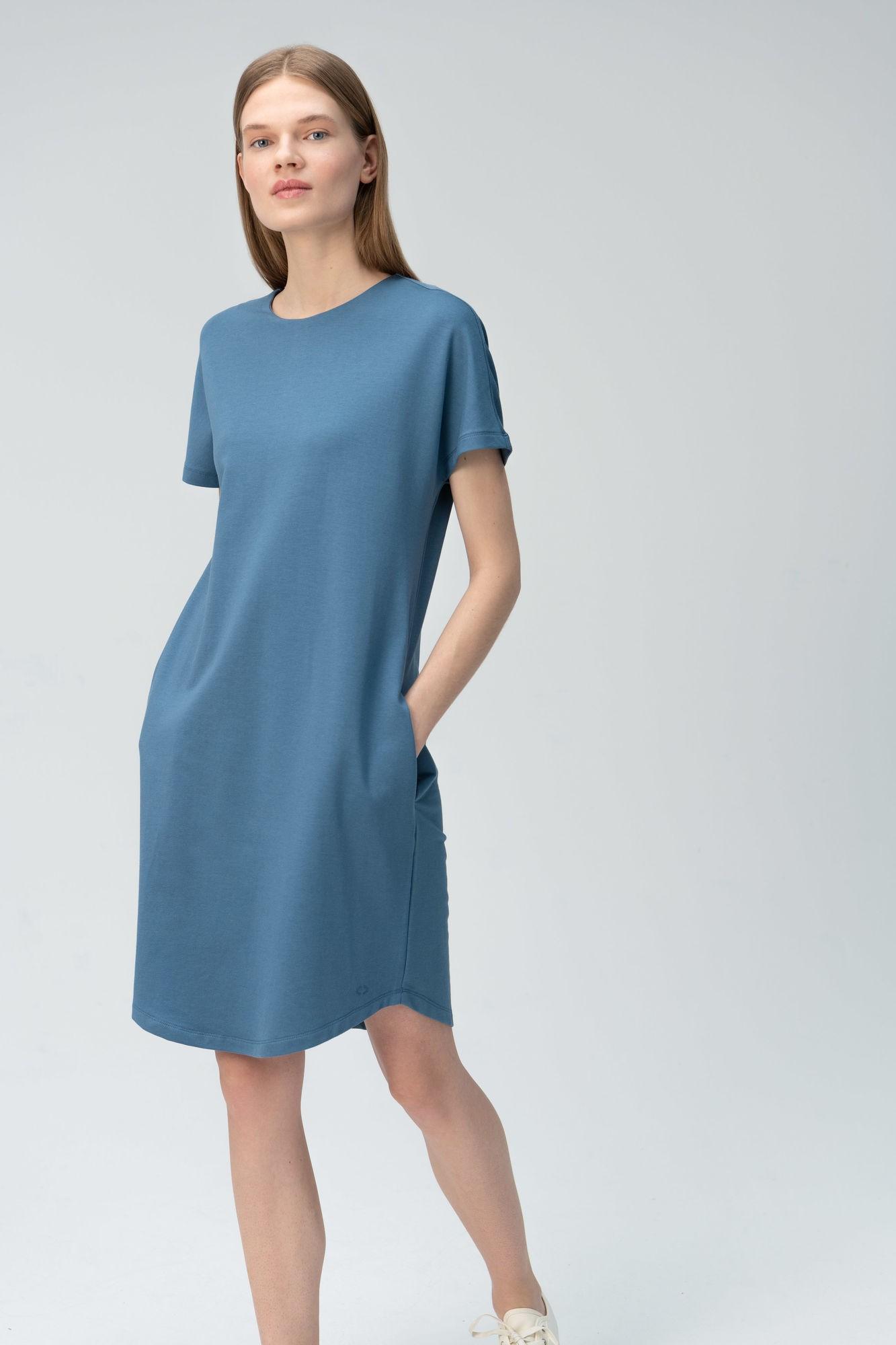 AUDIMAS Švelnaus modalo suknelė 2011-104 Blue Mirage S