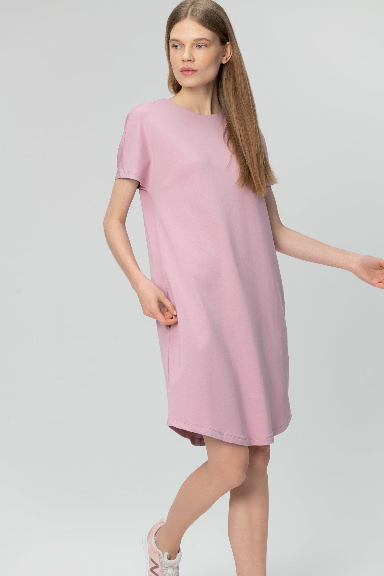 AUDIMAS Švelnaus modalo suknelė 2011-104 Mauve Shadows L