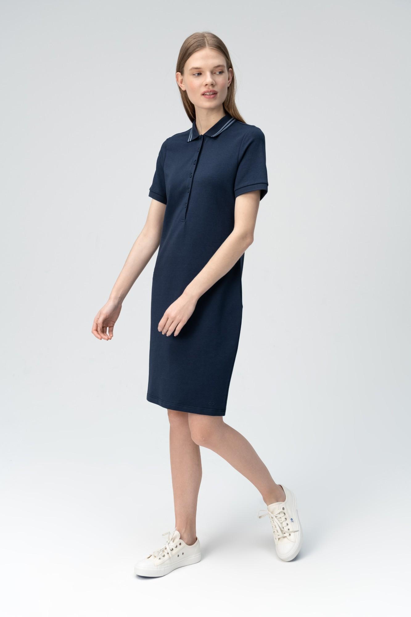AUDIMAS Švelnaus modalo polo suknelė 2011-172 Navy Blazer L