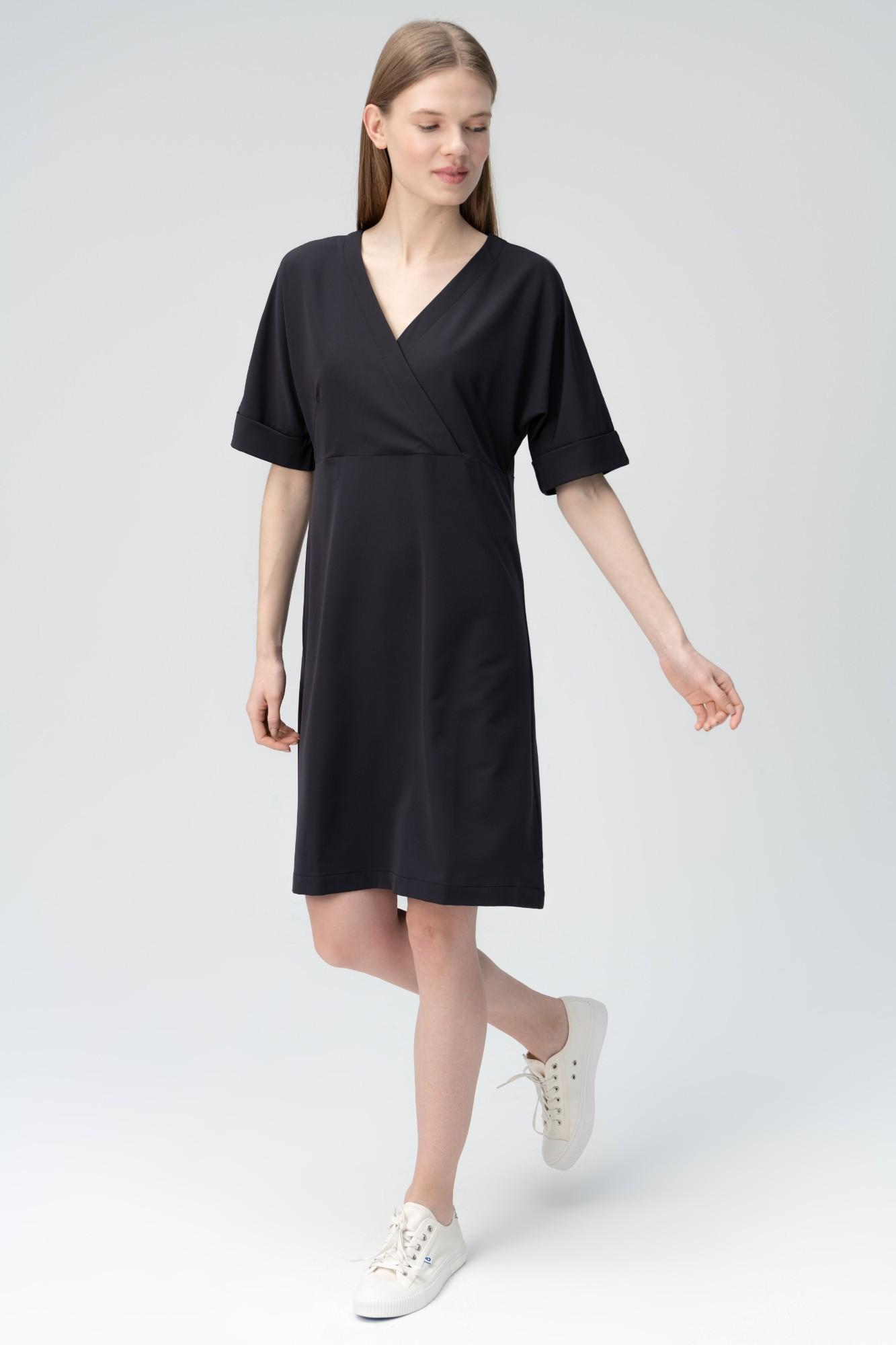 AUDIMAS Lengva tampraus audinio suknelė 2011-240 Black S