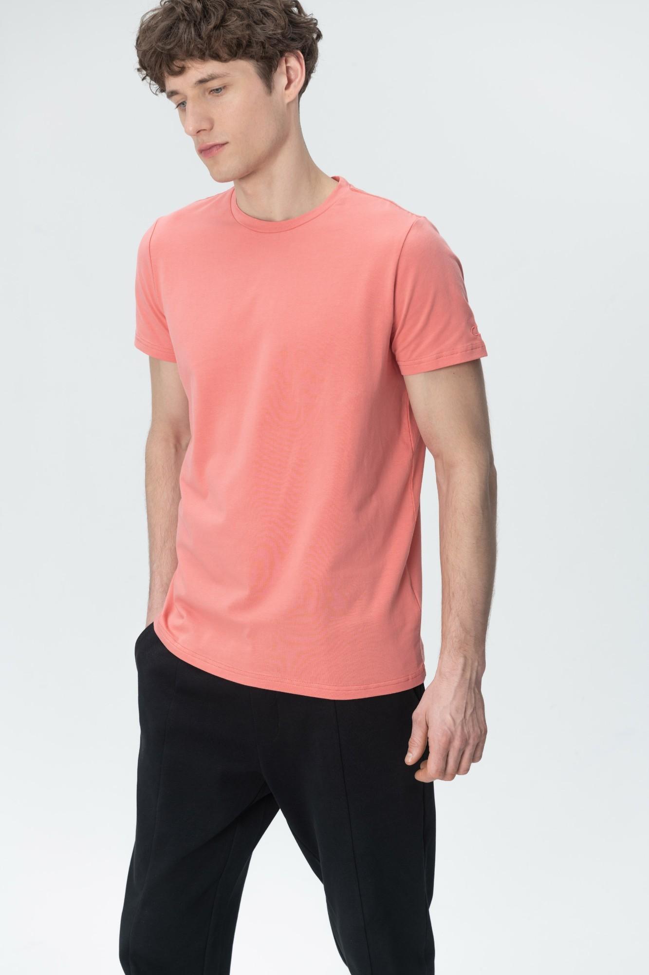 AUDIMAS Tamprūs medvilniniai marškinėliai 2011-472 Lantana M