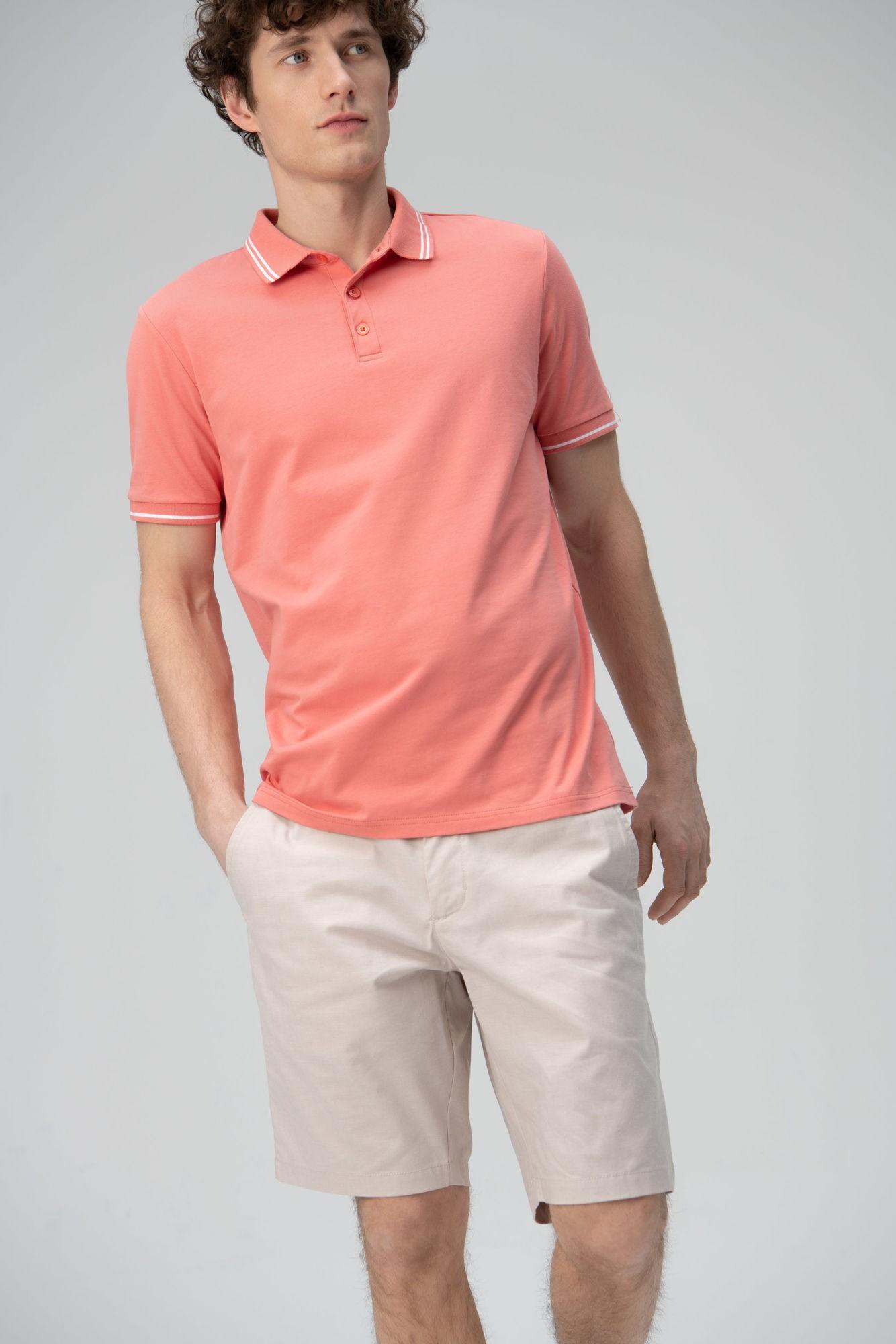 AUDIMAS Tamprūs medv. polo marškinėliai 2011-479 Lantana XL