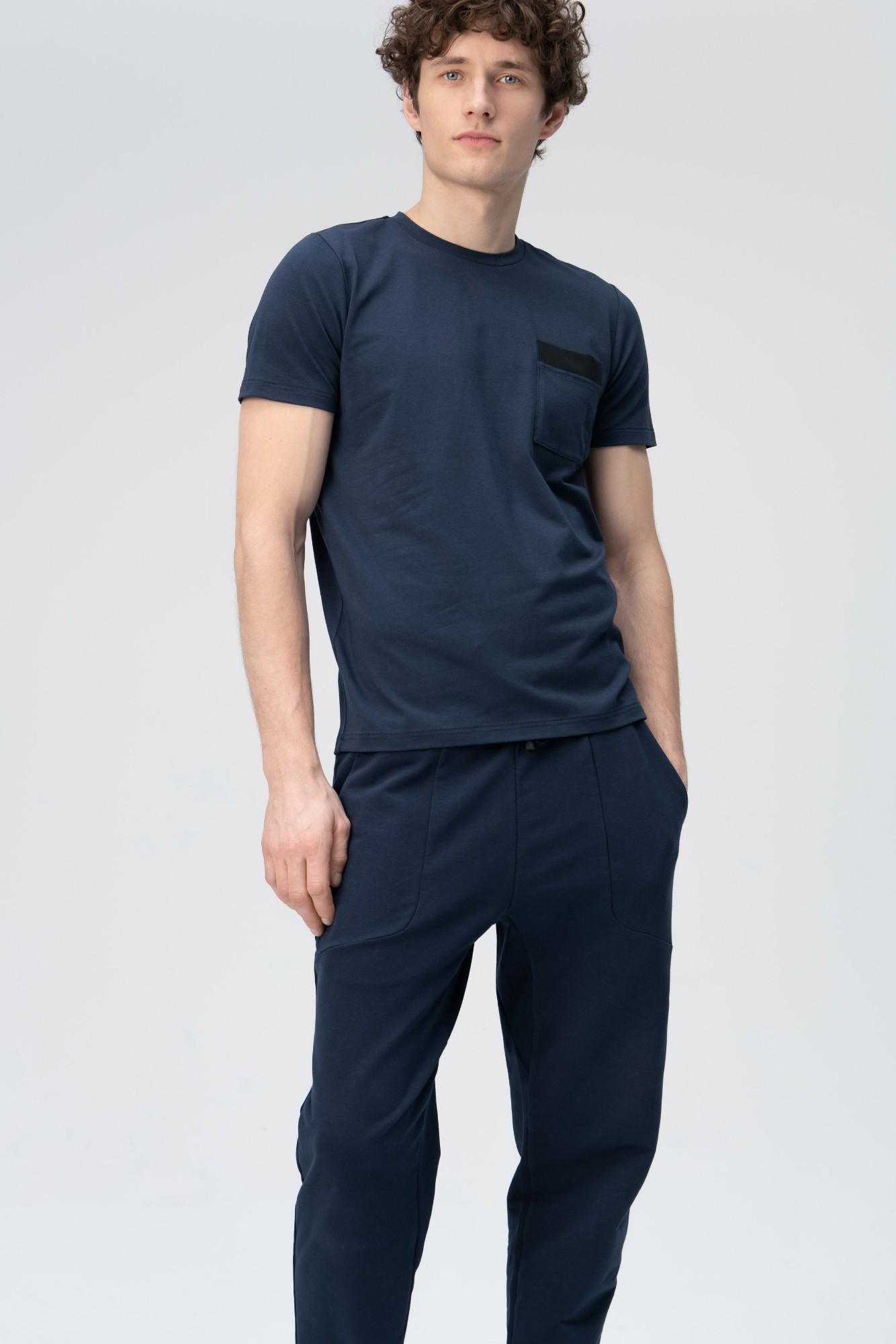 AUDIMAS Švelnūs modalo marškinėliai 2011-512 Navy Blazer M