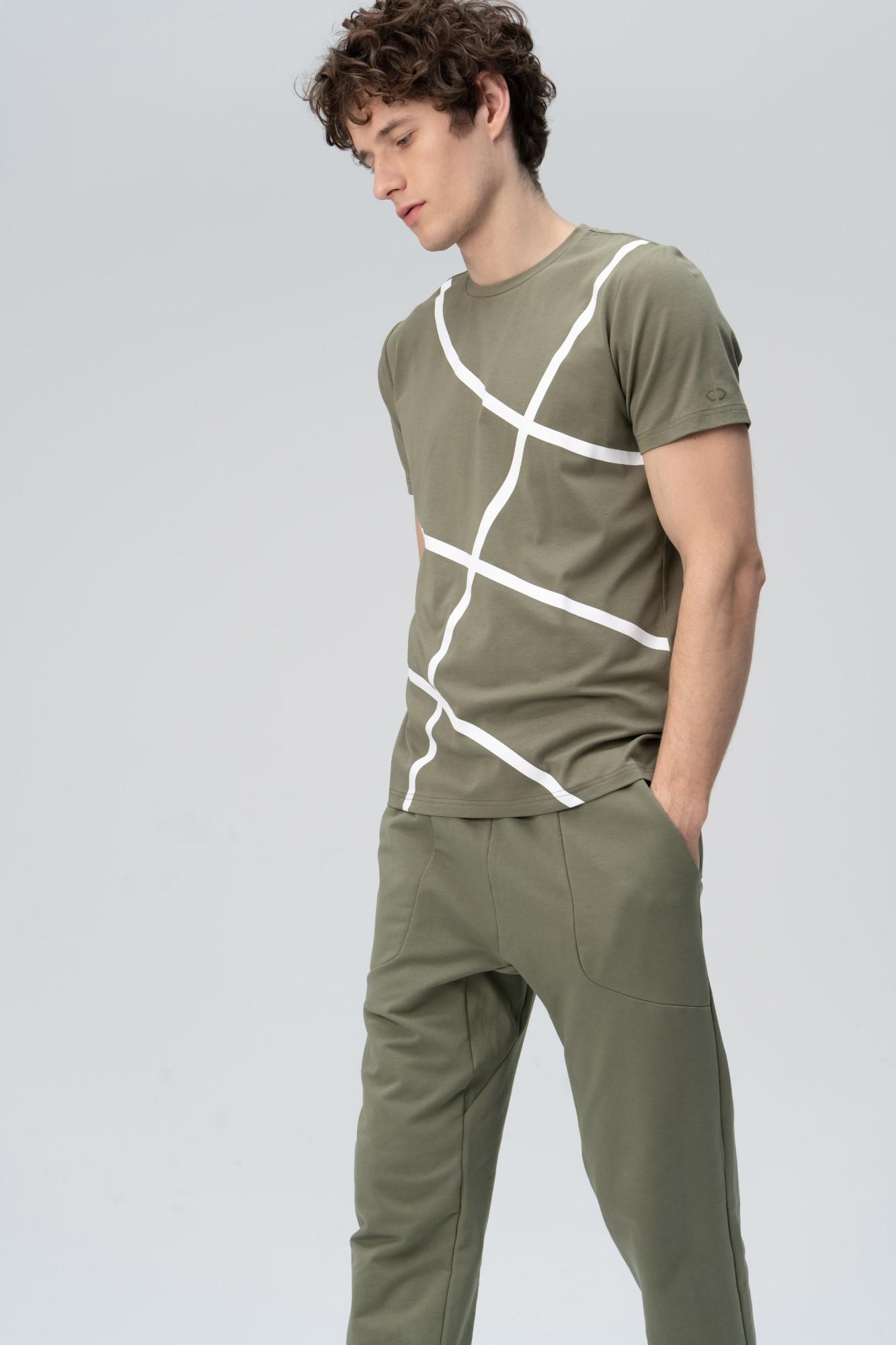 AUDIMAS Marginti švelnūs modalo marškin. 2011-526 Deep Lichen Green XL