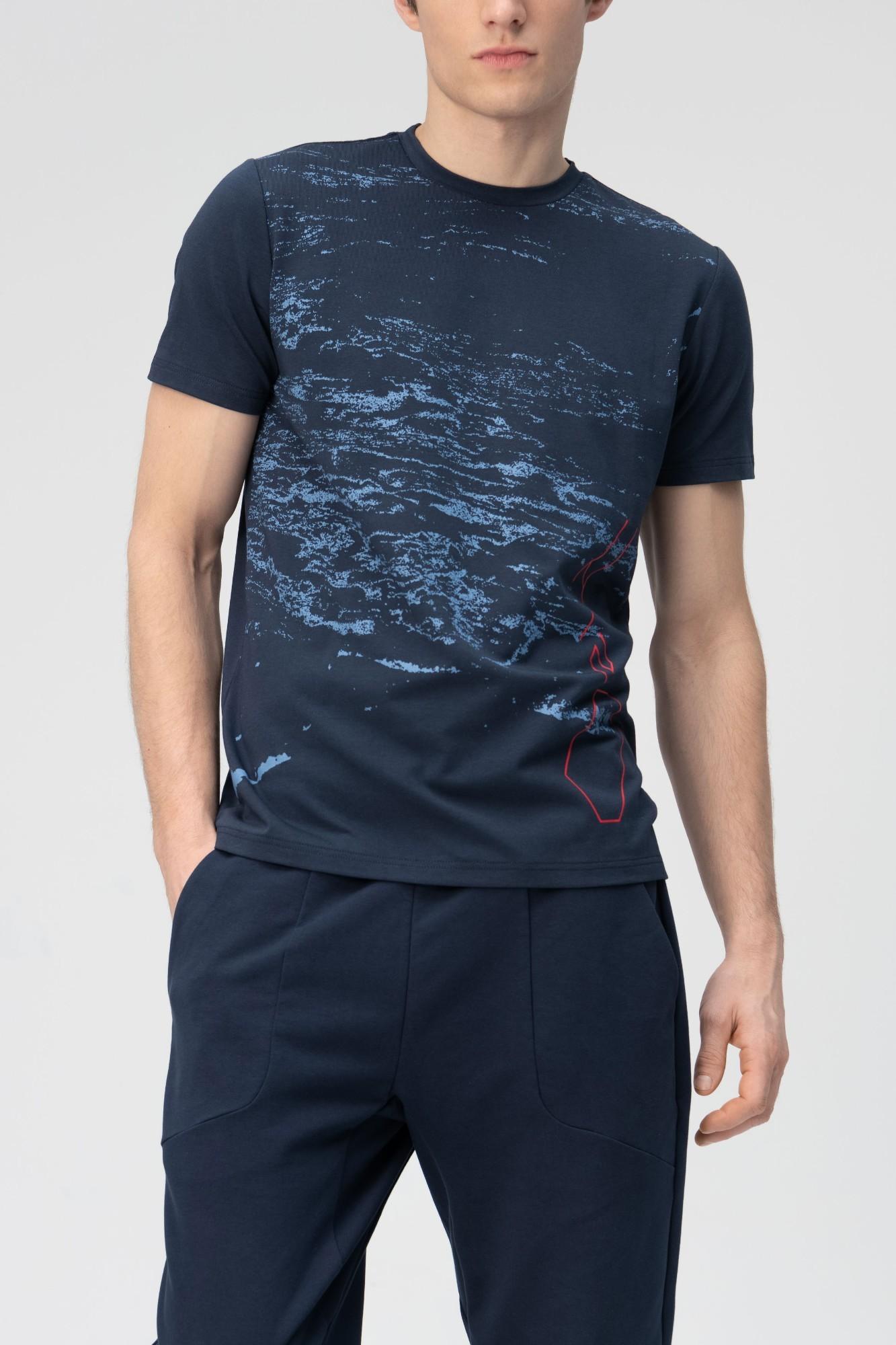 AUDIMAS Marginti švelnūs modalo marškin. 2011-526 Navy Blazer 1 Pr S