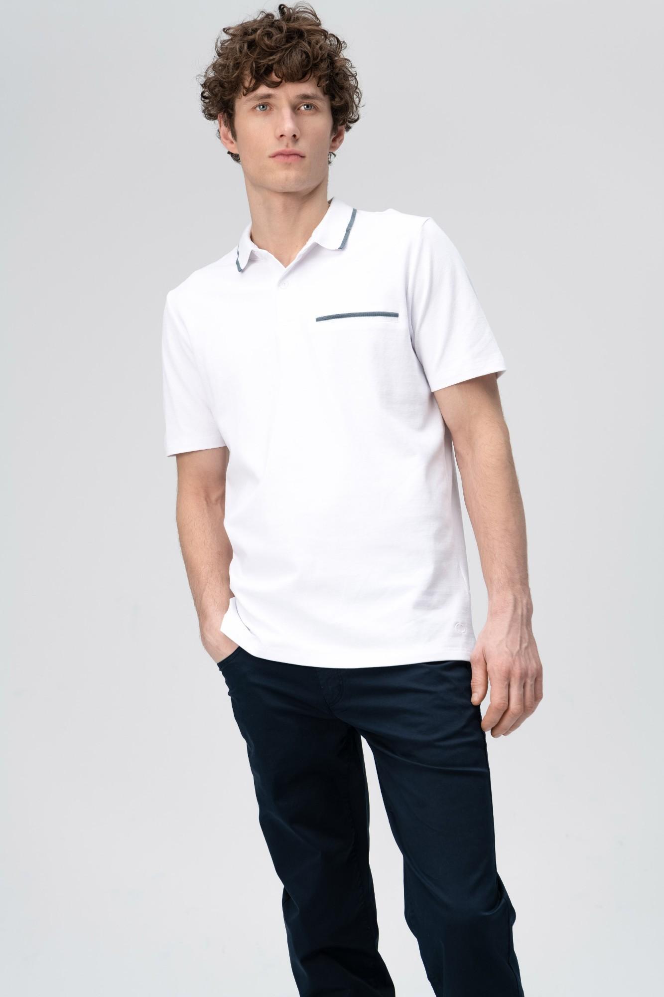 AUDIMAS Tamprūs medv. polo marškinėliai 2011-527 White M