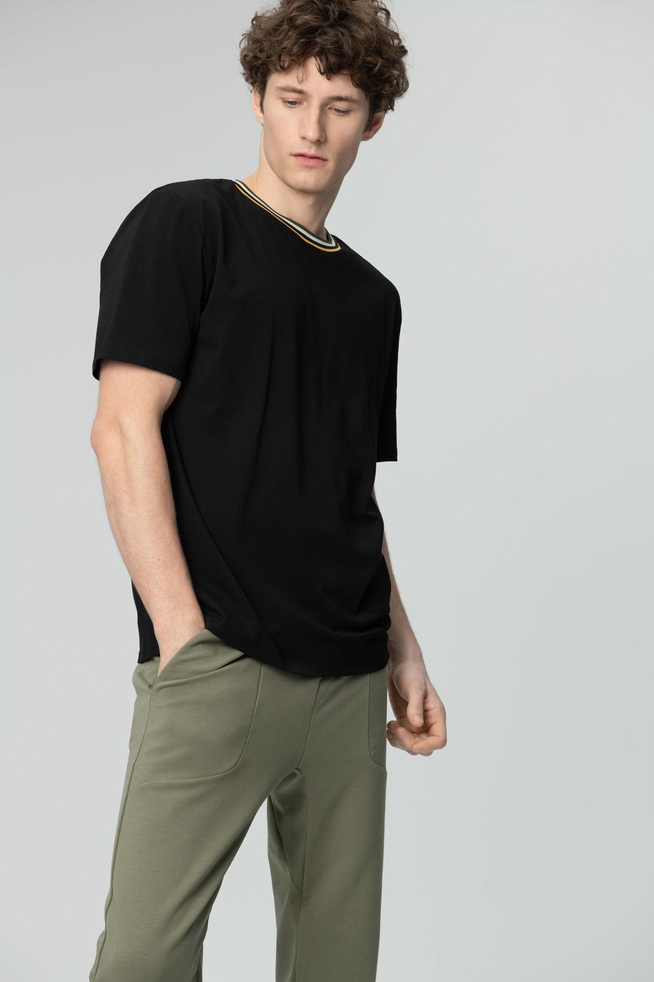 AUDIMAS Tamprūs medvilniniai marškinėliai 2011-642 Black S
