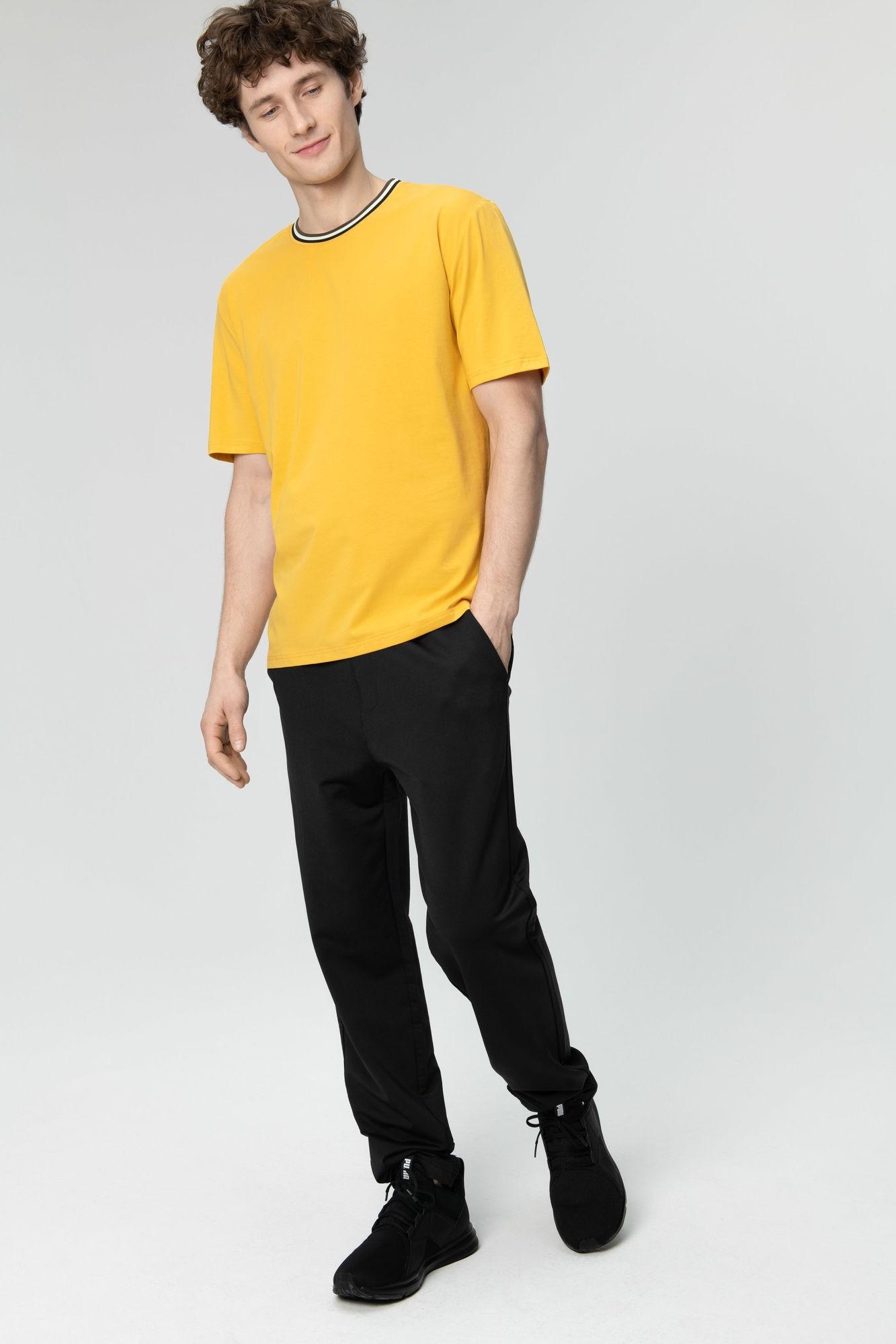 AUDIMAS Tamprūs medvilniniai marškinėliai 2011-642 Golden Rod L