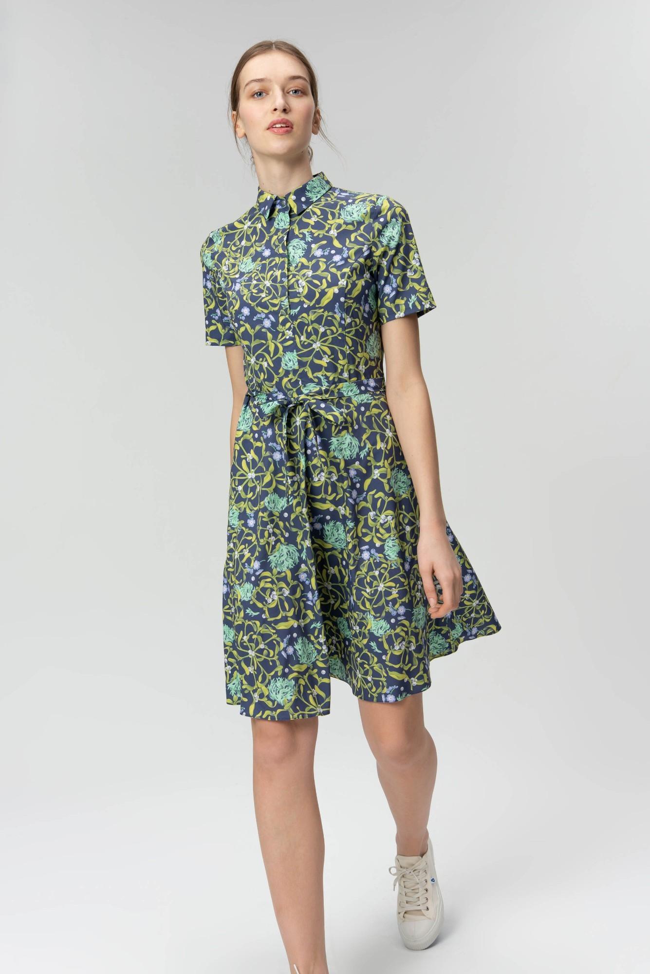 AUDIMAS Neglamži lengva marginta suknelė 20FL-239 Dark Garden L