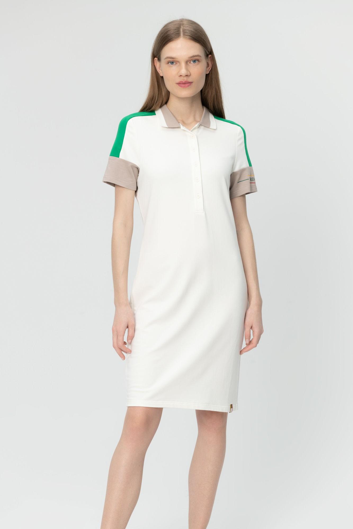 AUDIMAS Švelnaus modalo polo suknelė 20LT-010 Blanc De Blanc L