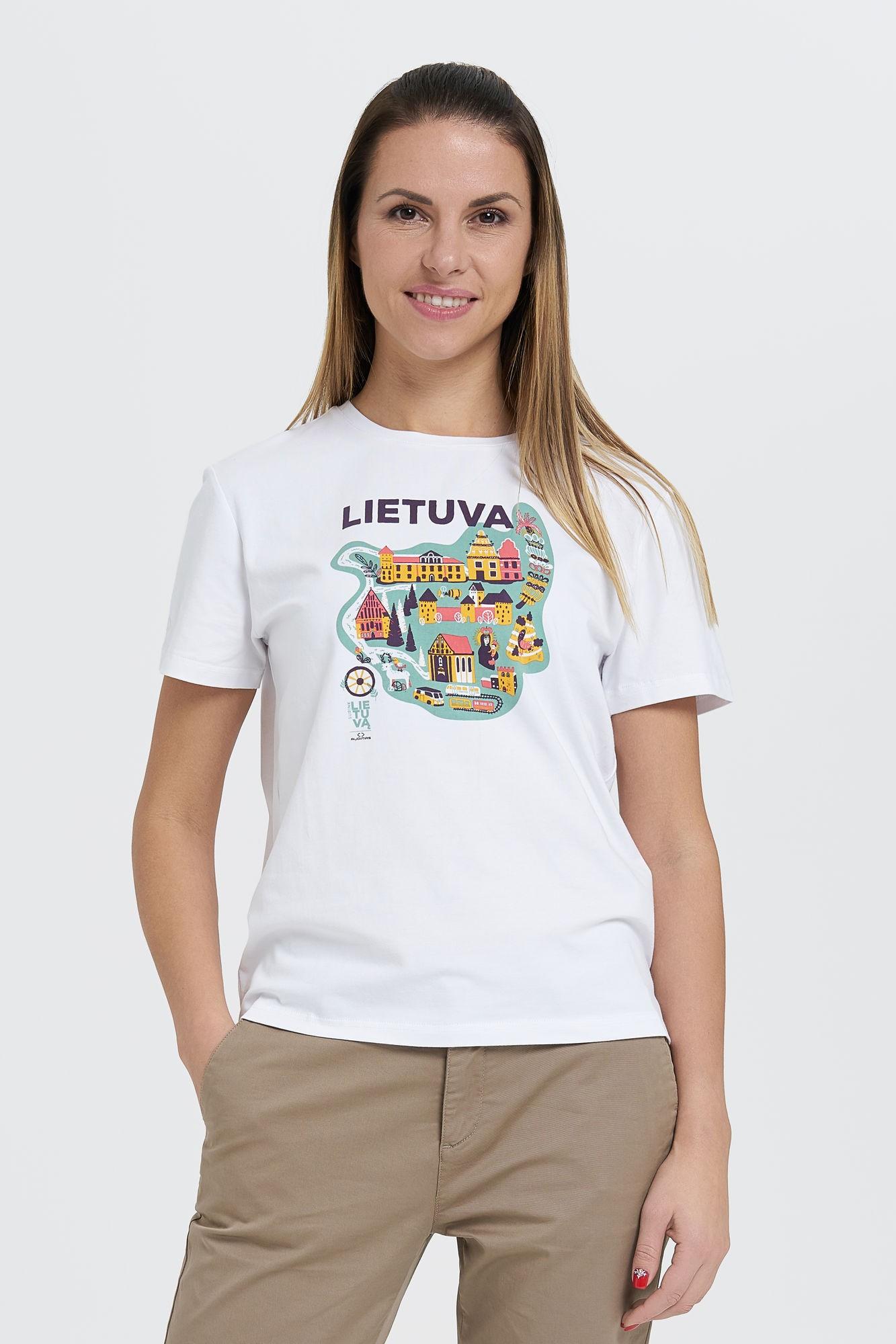 AUDIMAS Medvilnės marškin. SURINK LIETUVĄ 20SL-021 Lietuva/White M