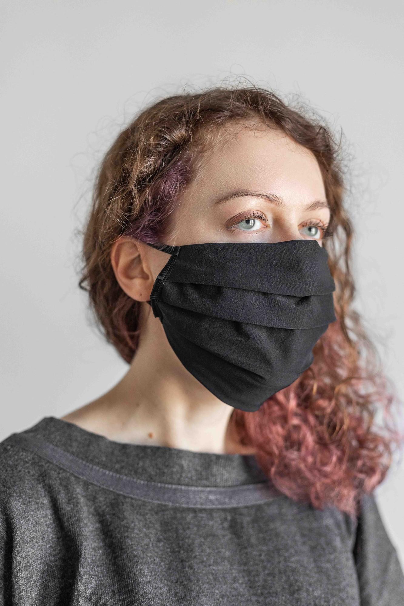 AUDIMAS Daugkartinė apsauginė kaukė 2 vnt. Black M