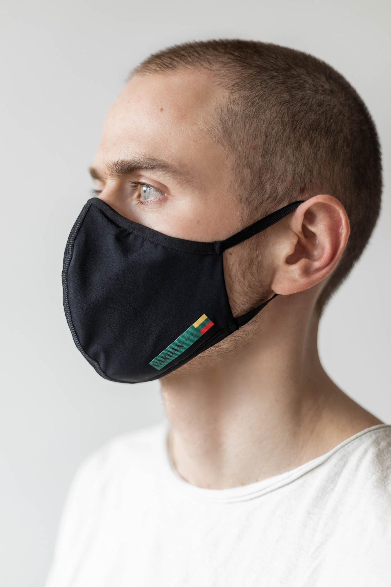 AUDIMAS Daugkartinio naudojimo 3D kaukė VARDAN TOS Black L