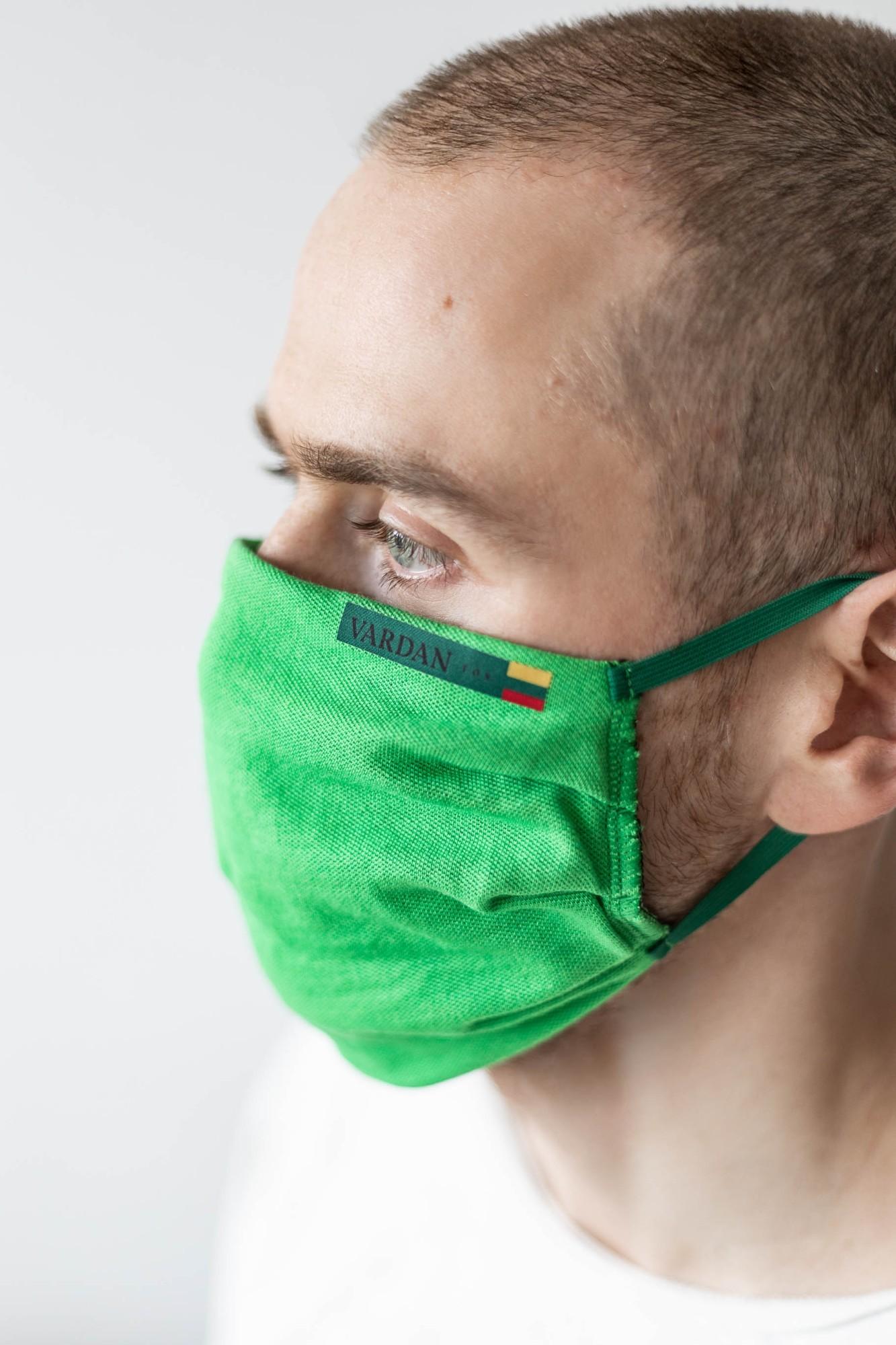 AUDIMAS Daugkartinė apsaug.kaukė VARDAN TOS 2 vnt. Jolly Green M