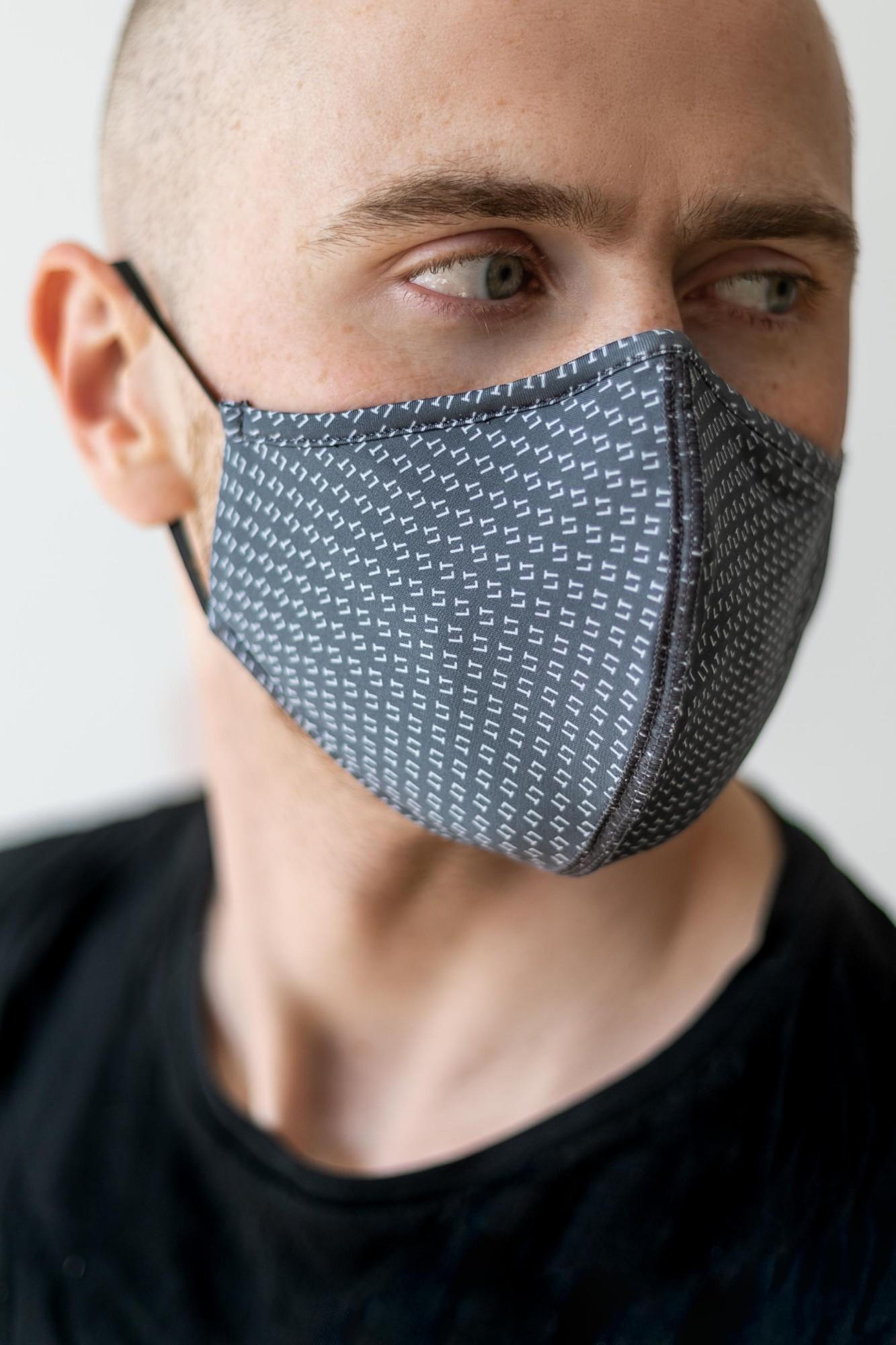 AUDIMAS Daugkartinio naudojimo 3D kaukė 3D PRINT LT Asphalt 2 Mask M