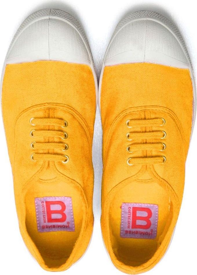 BENSIMON Tennis Lacets Femme F15004C15F Bouton D OR 36