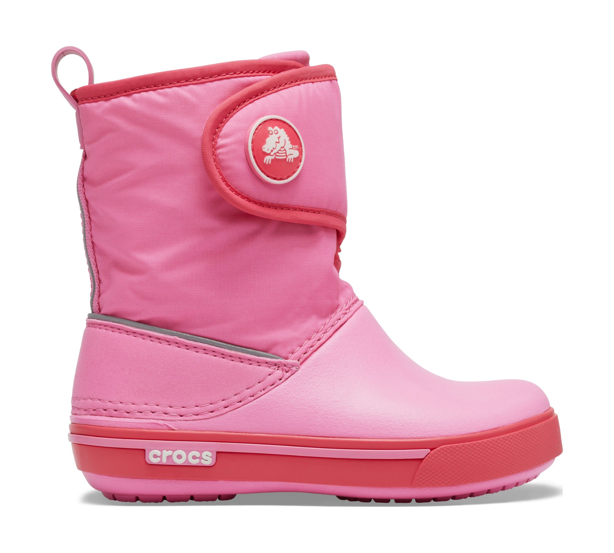 Crocs™ Kids' Crocband II.5 Gust Boot Pink Lemonade/Poppy 26