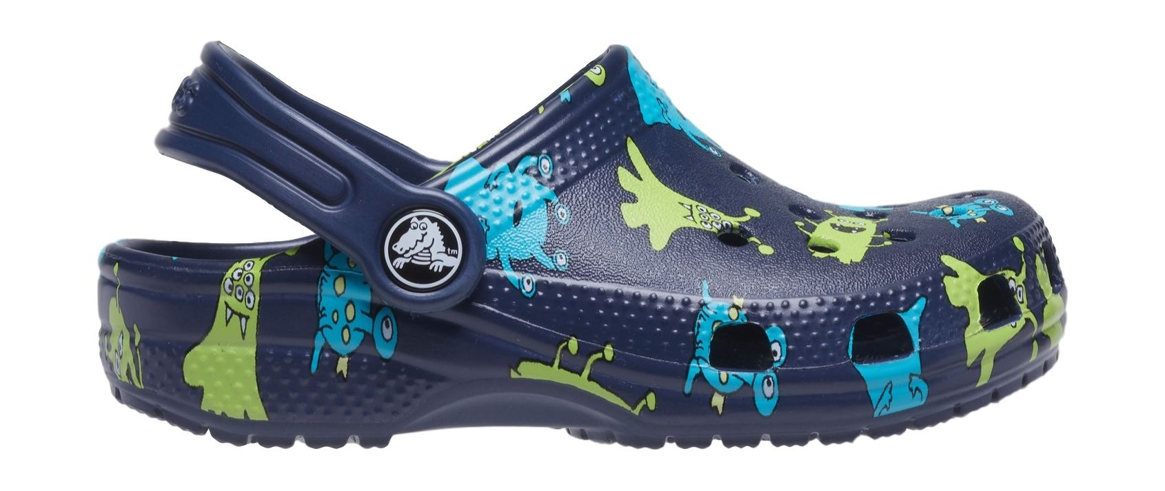 Crocs™ Classic Monster Print Clog T Navy 24