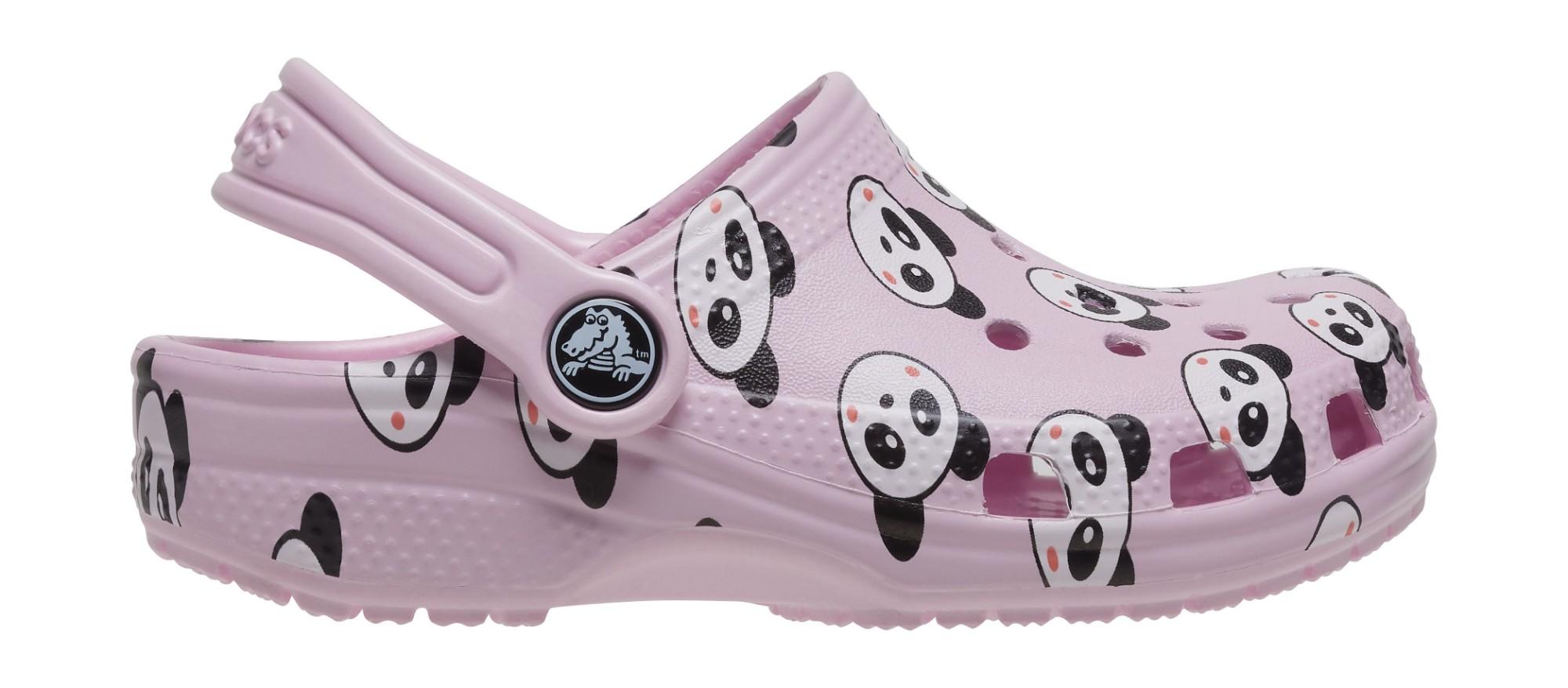 Crocs™ Classic Panda Print Clog Ballerina Pink 22