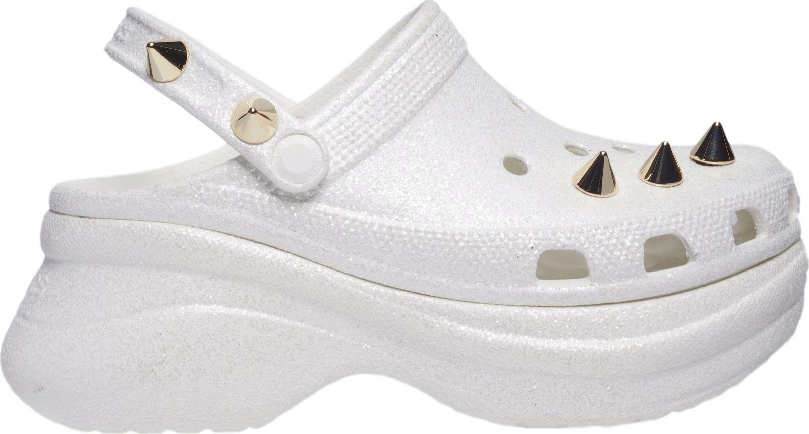 Crocs™ Classic Bae Glitter Stud Clog White 38,5