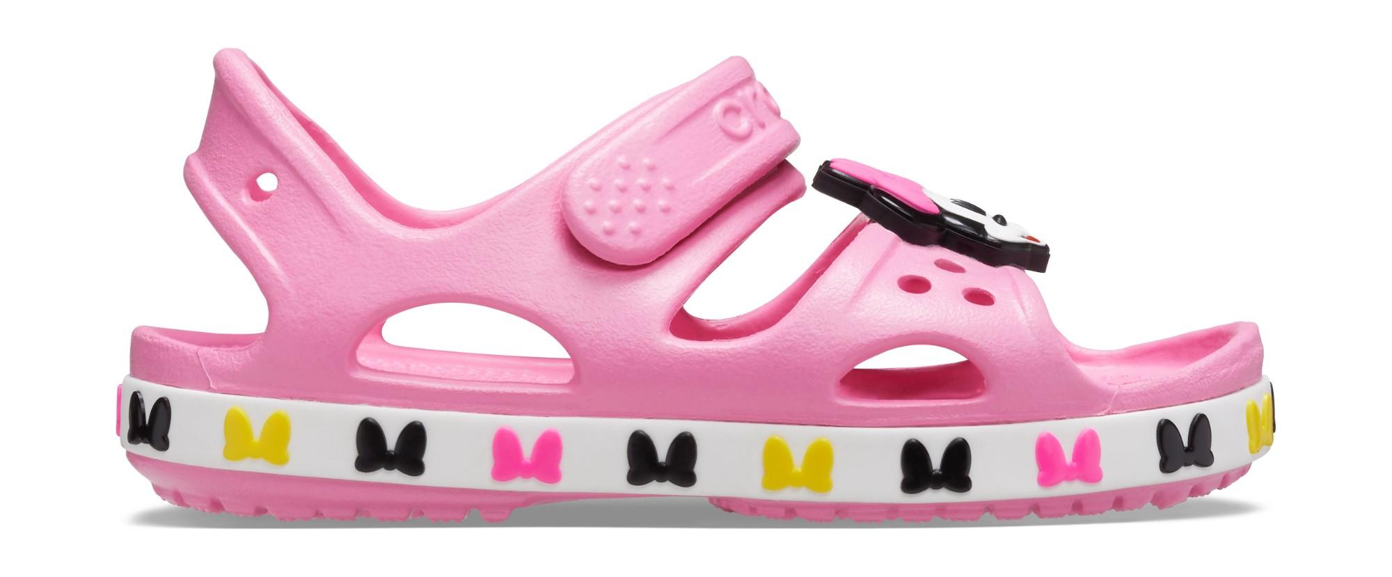 Crocs™ Kids' Fun Lab Crocband Minnie Mouse Sandal Pink Lemonade 26