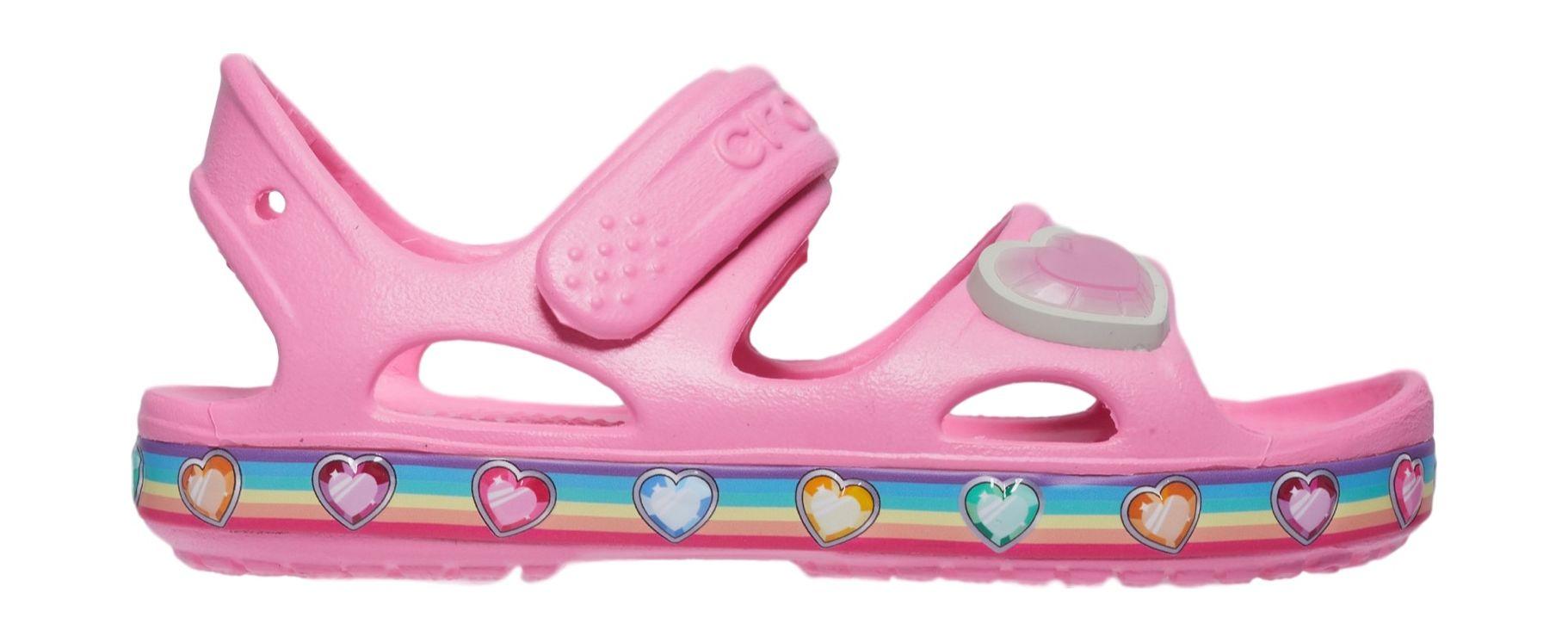 Crocs™ Fun Lab Rainbow Sandal Pink Lemonade 29