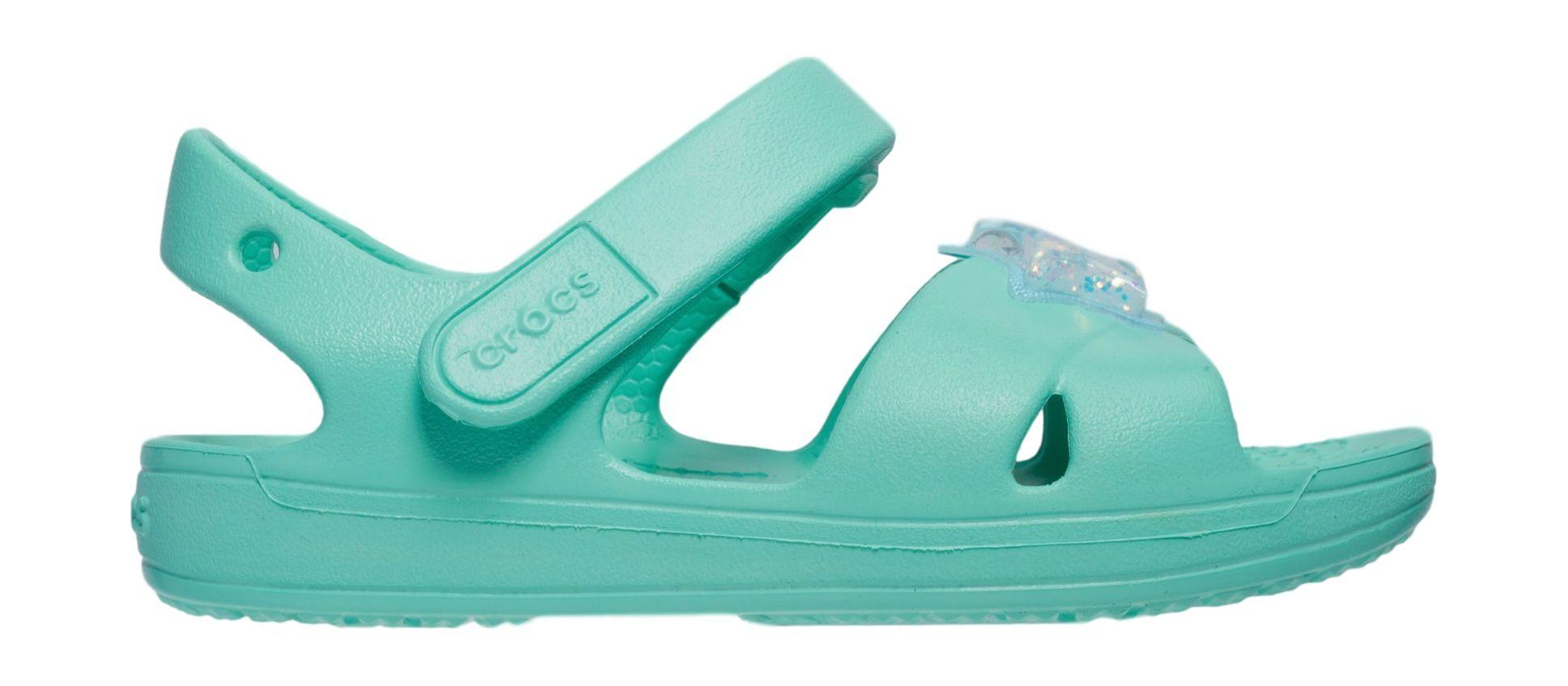 Crocs™ Classic Cross Strap Charm Sandal T Pistachio 30