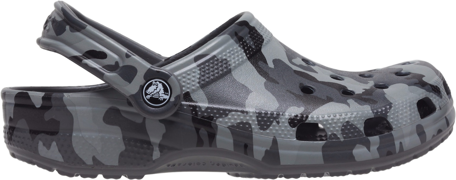 Crocs™ Classic Printed Camo Clog Slate Grey/Multi 36,5