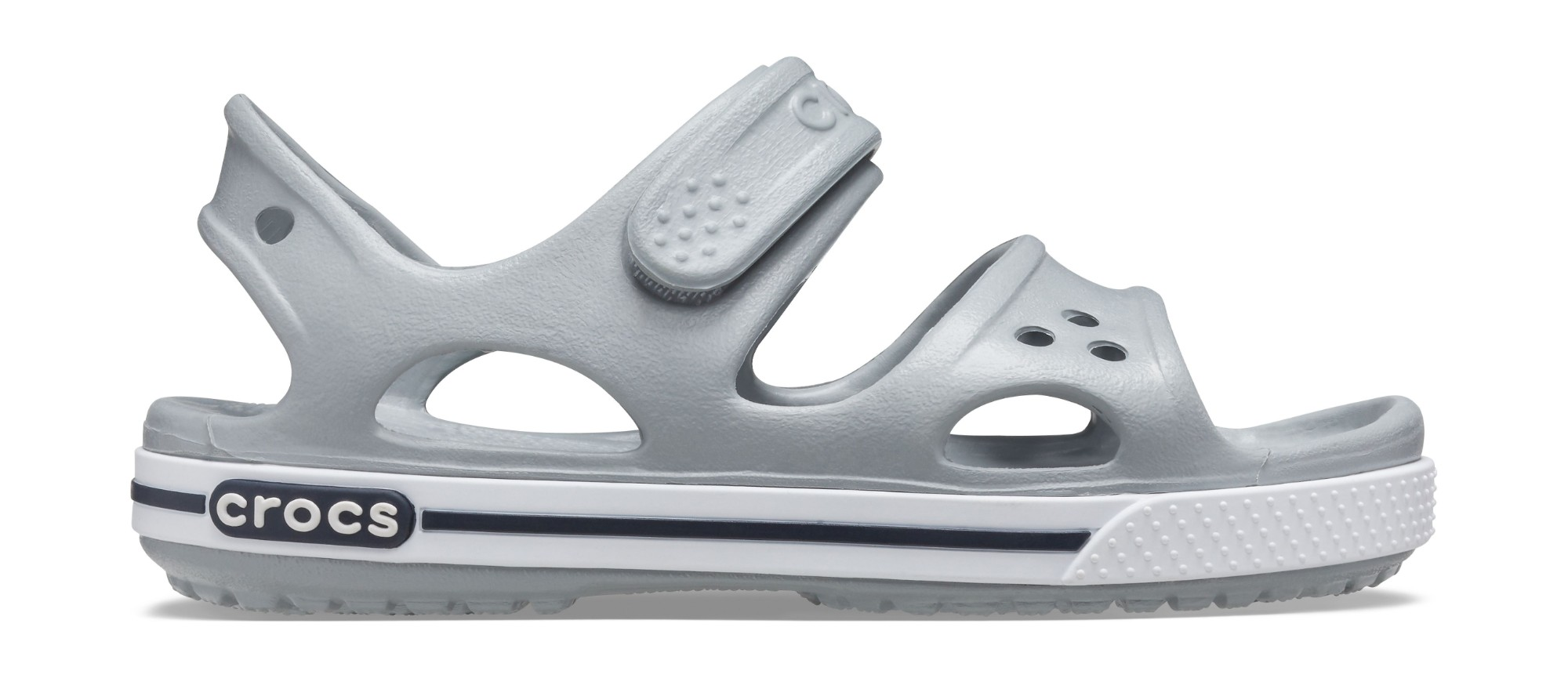 Crocs™ Kids' Crocband II Sandal PS Light Grey/Navy 23
