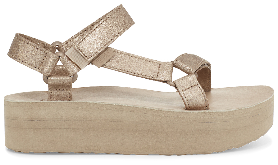 Teva Flatform Universal Leather Women's Metallic Champagne 39
