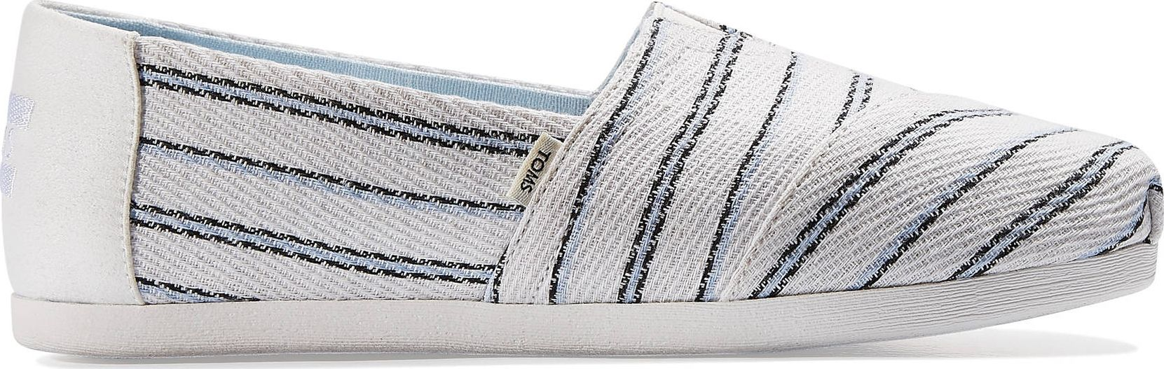 TOMS Textured Stripe Women's Alpargata White Multi 37