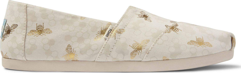 TOMS Foil Bumble Bees Women's Alpargata Birch 36,5