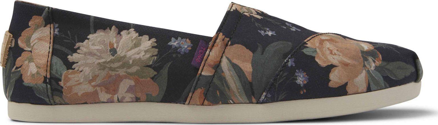 TOMS Liberty Print Women's Alpargata Black Decadent Bloom 42